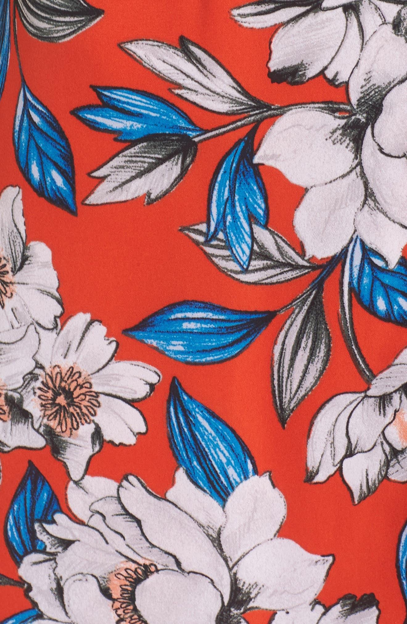 Hey Boy Button Front Midi Dress,                             Alternate thumbnail 5, color,                             619