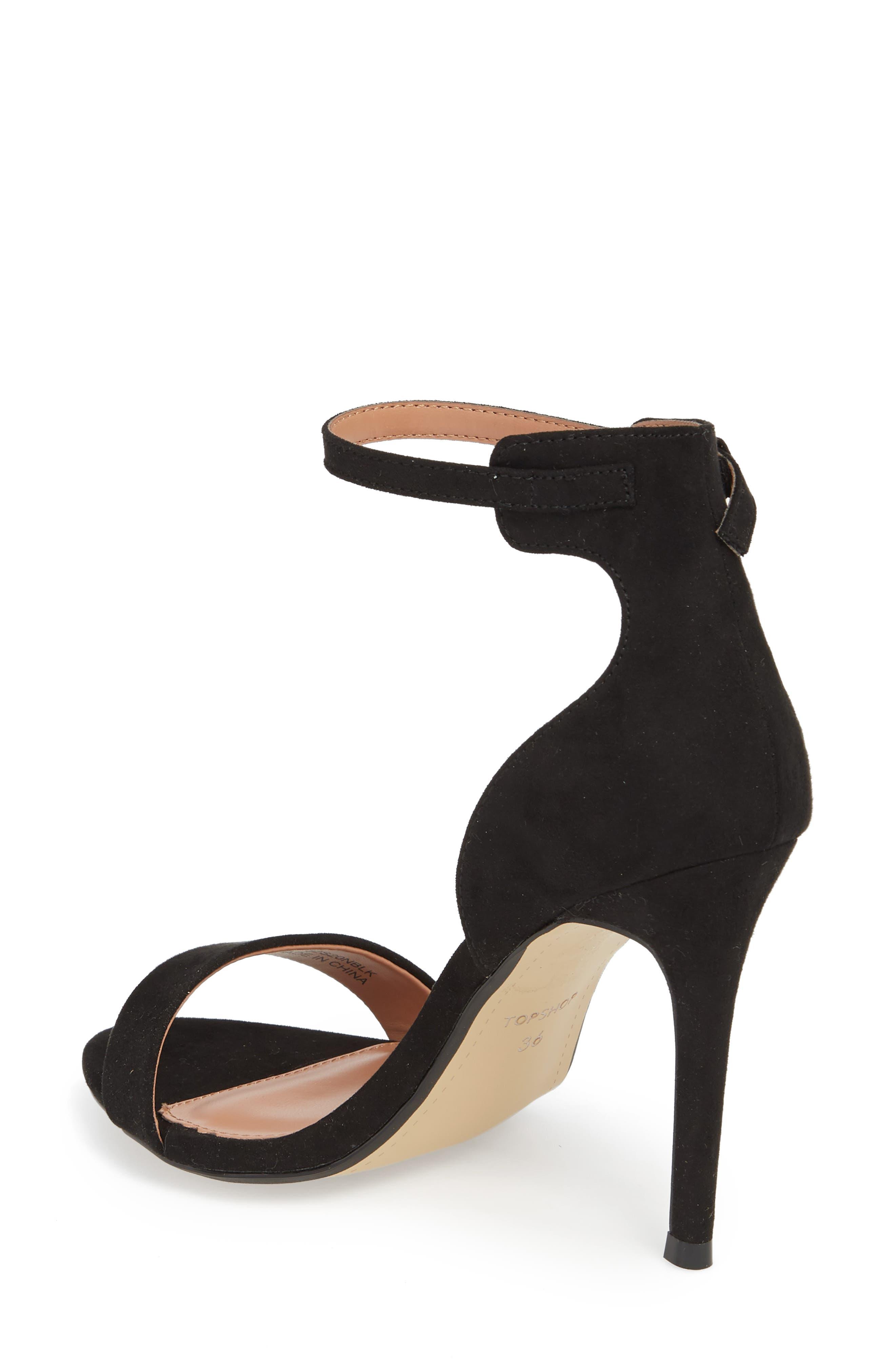 Marcelle Ankle Strap Sandal,                             Alternate thumbnail 2, color,                             BLACK