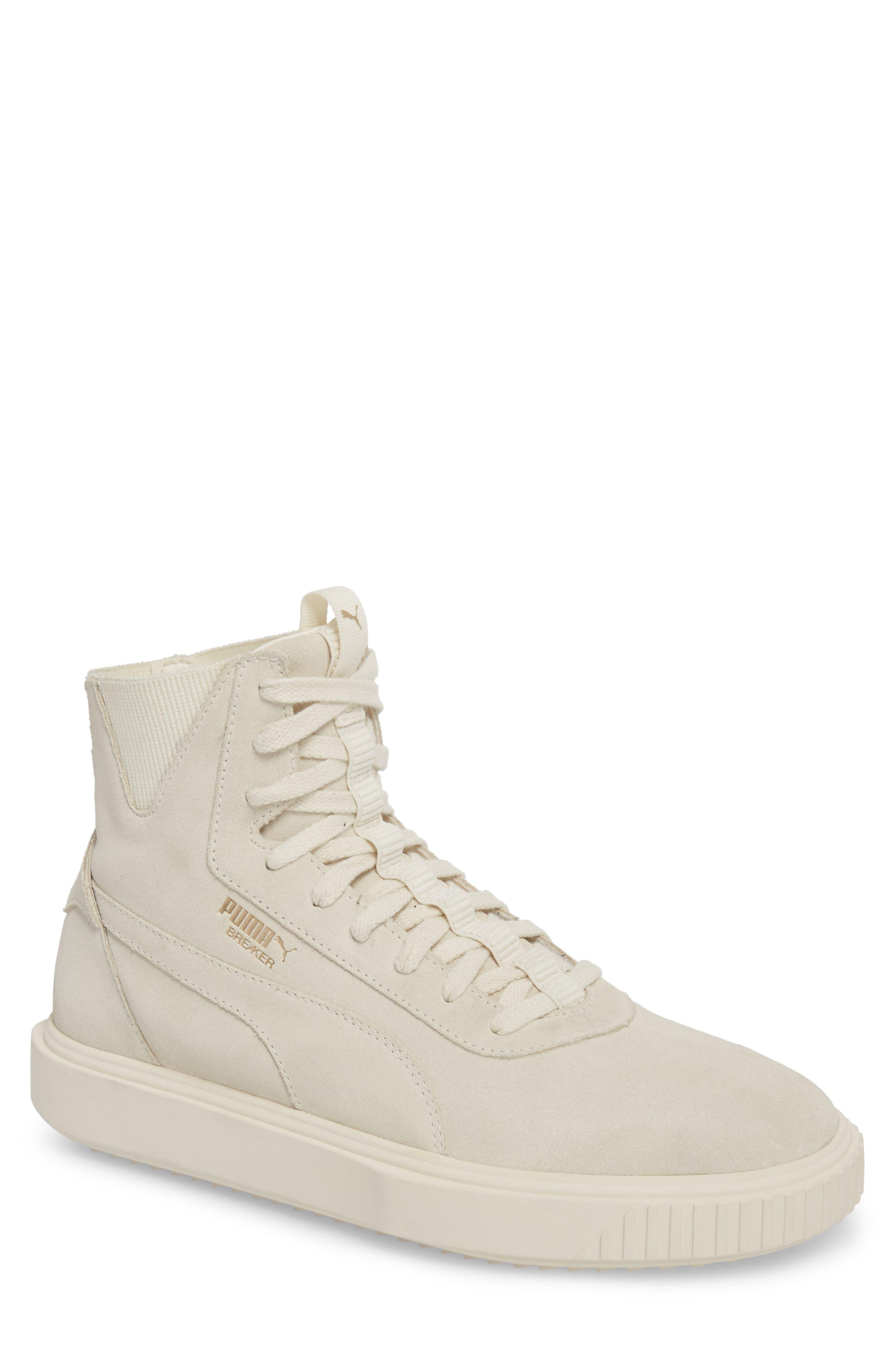 Breaker High Top Sneaker,                         Main,                         color, WHITE