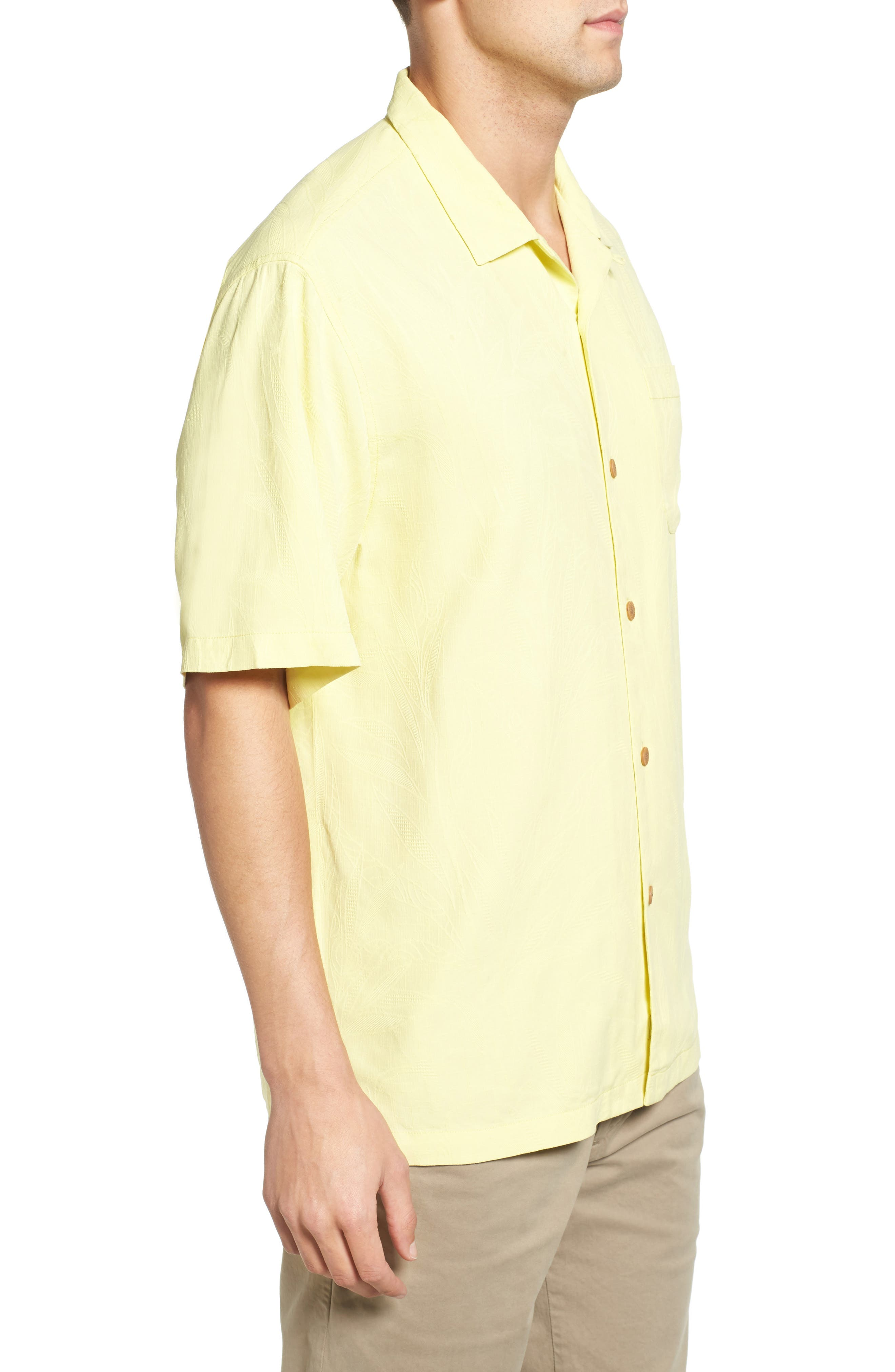Islander Fronds Silk Camp Shirt,                             Alternate thumbnail 26, color,