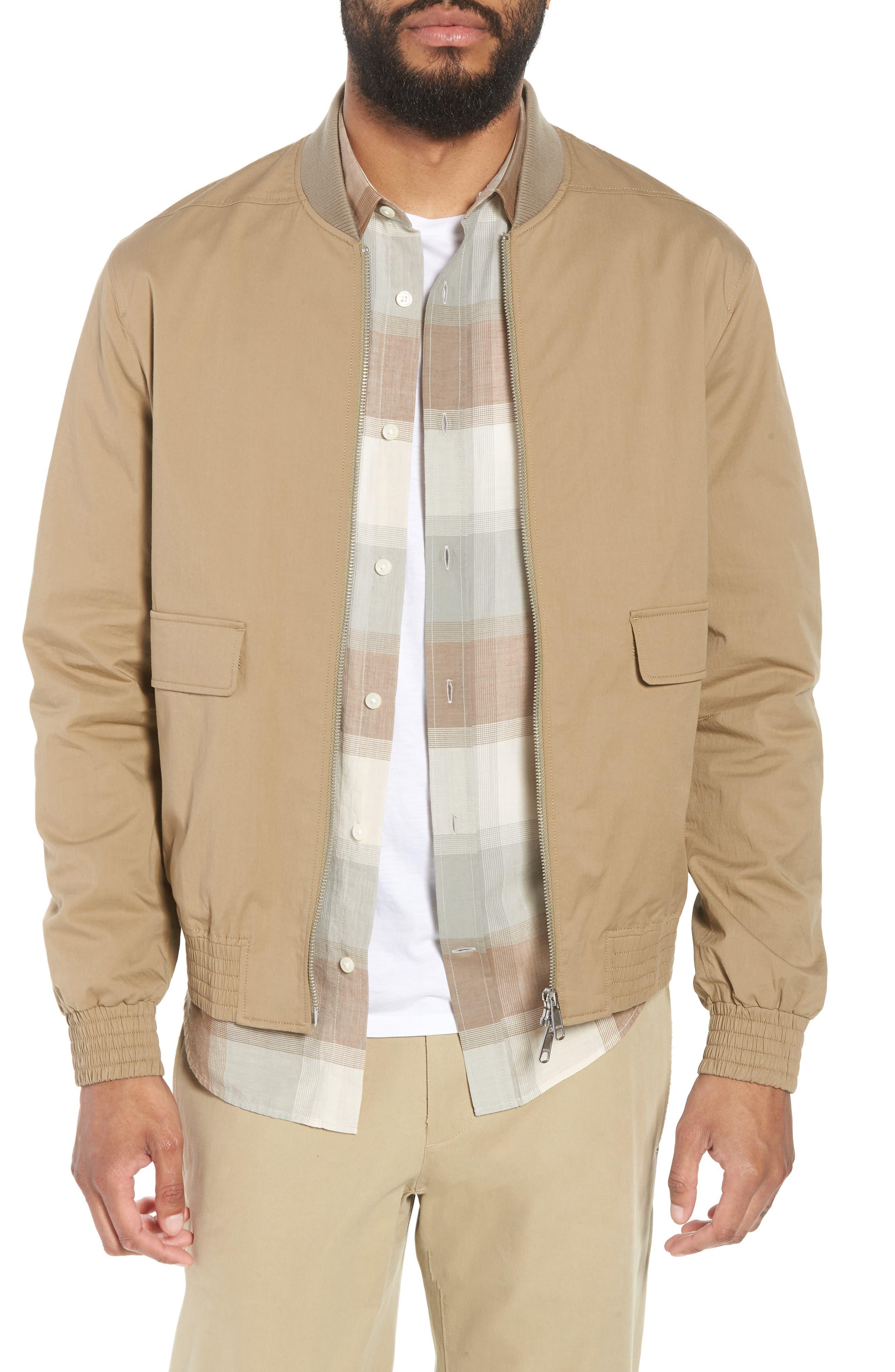 Regular Fit Bomber Jacket,                         Main,                         color, STONE KHAKI
