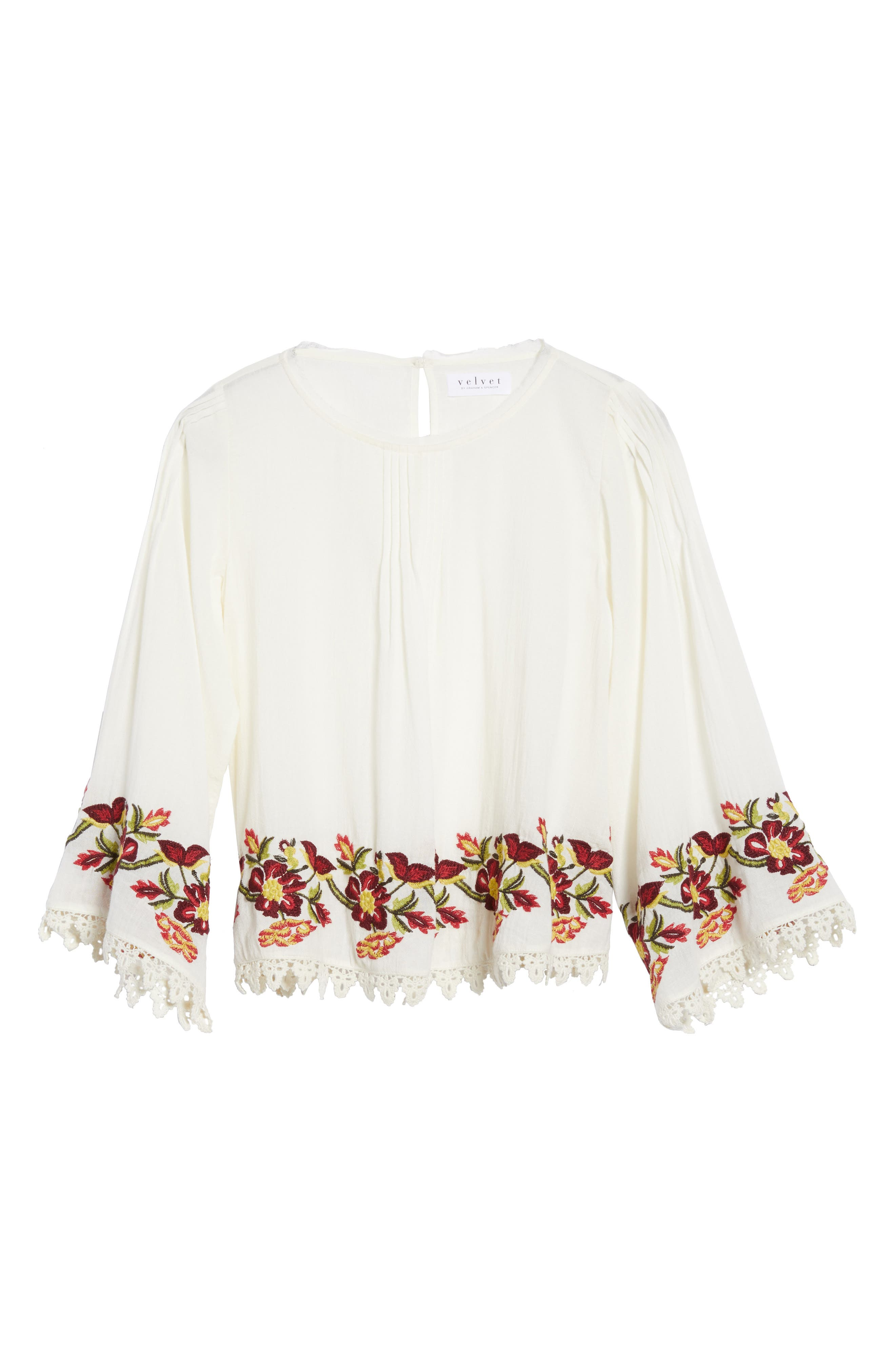 Embroidered Swing Blouse,                             Alternate thumbnail 6, color,                             902
