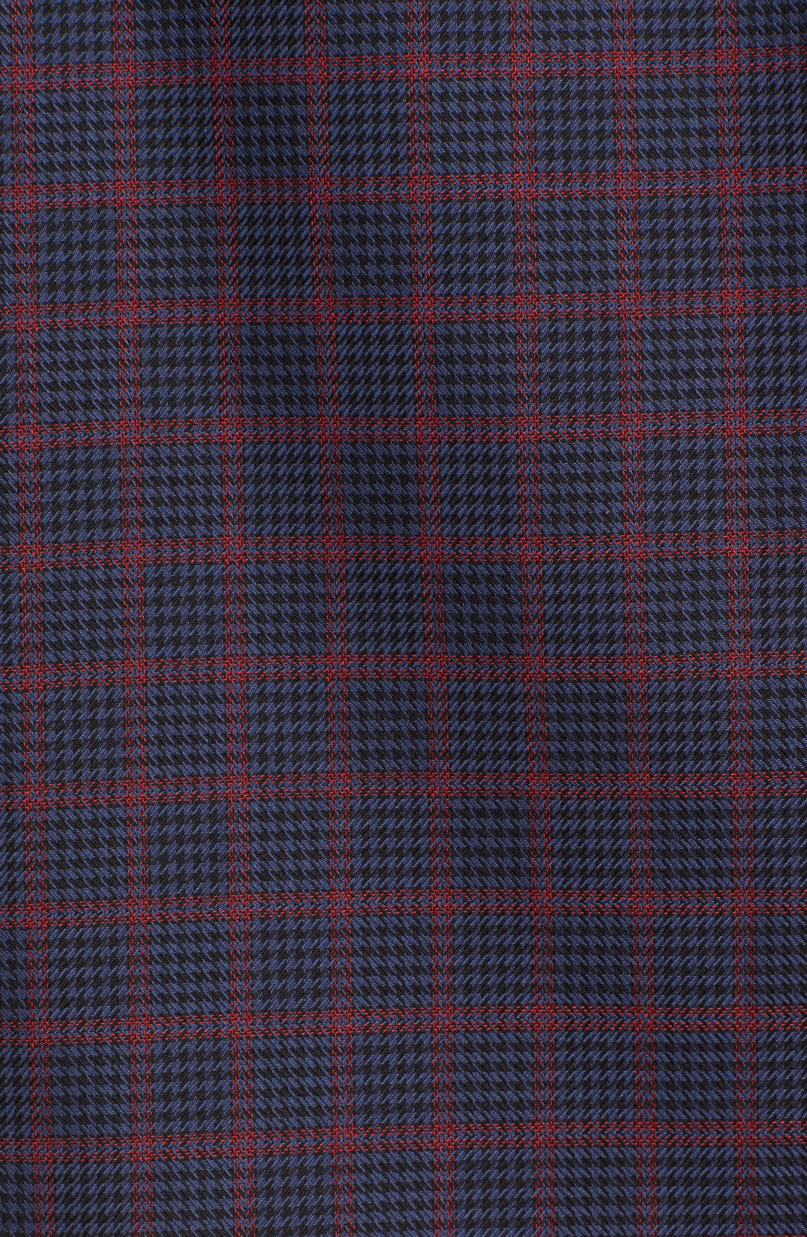 Classic Fit Houndstooth Check Sport Shirt,                             Alternate thumbnail 5, color,