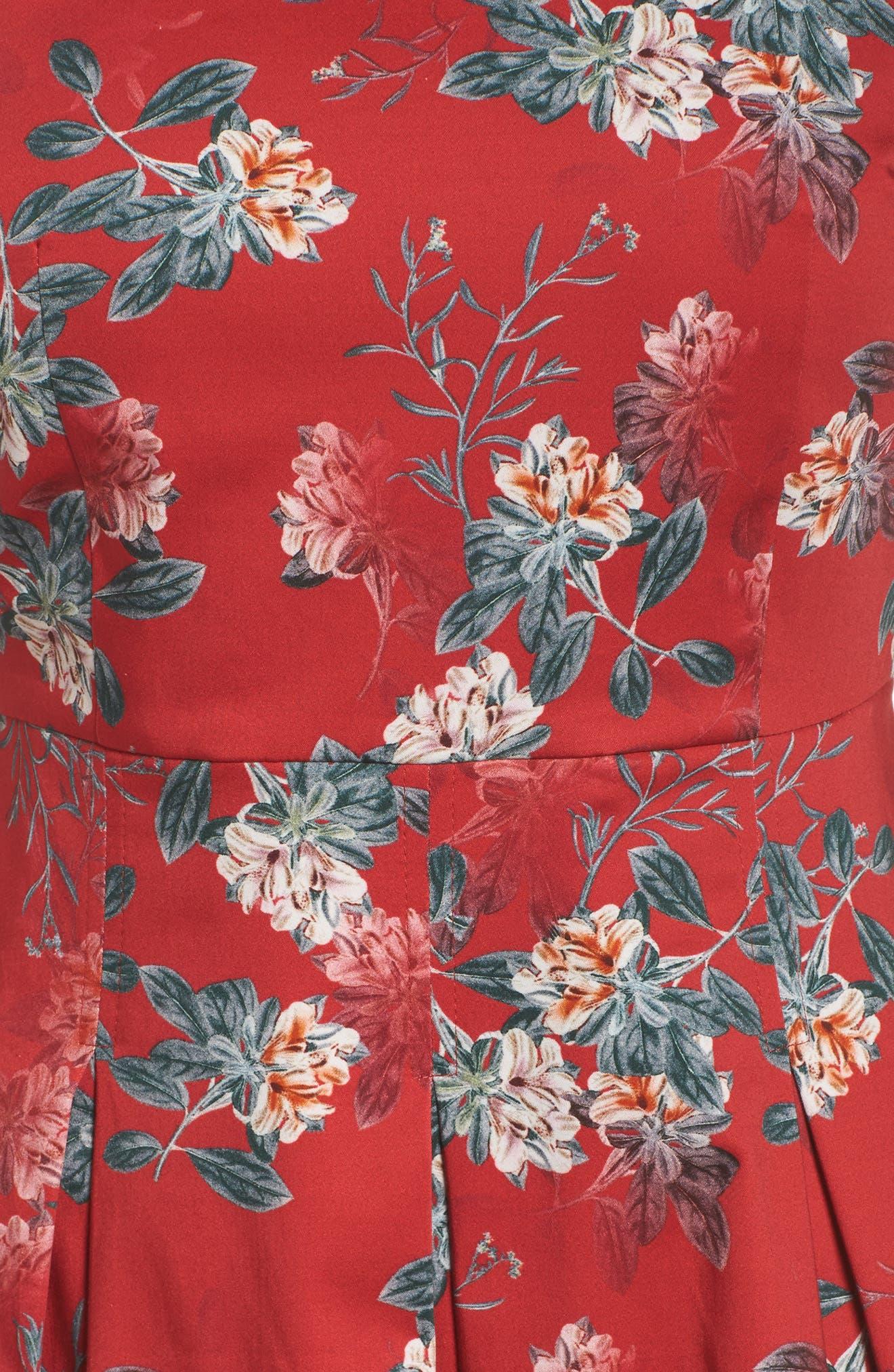 Kioa Fit & Flare Dress,                             Alternate thumbnail 7, color,
