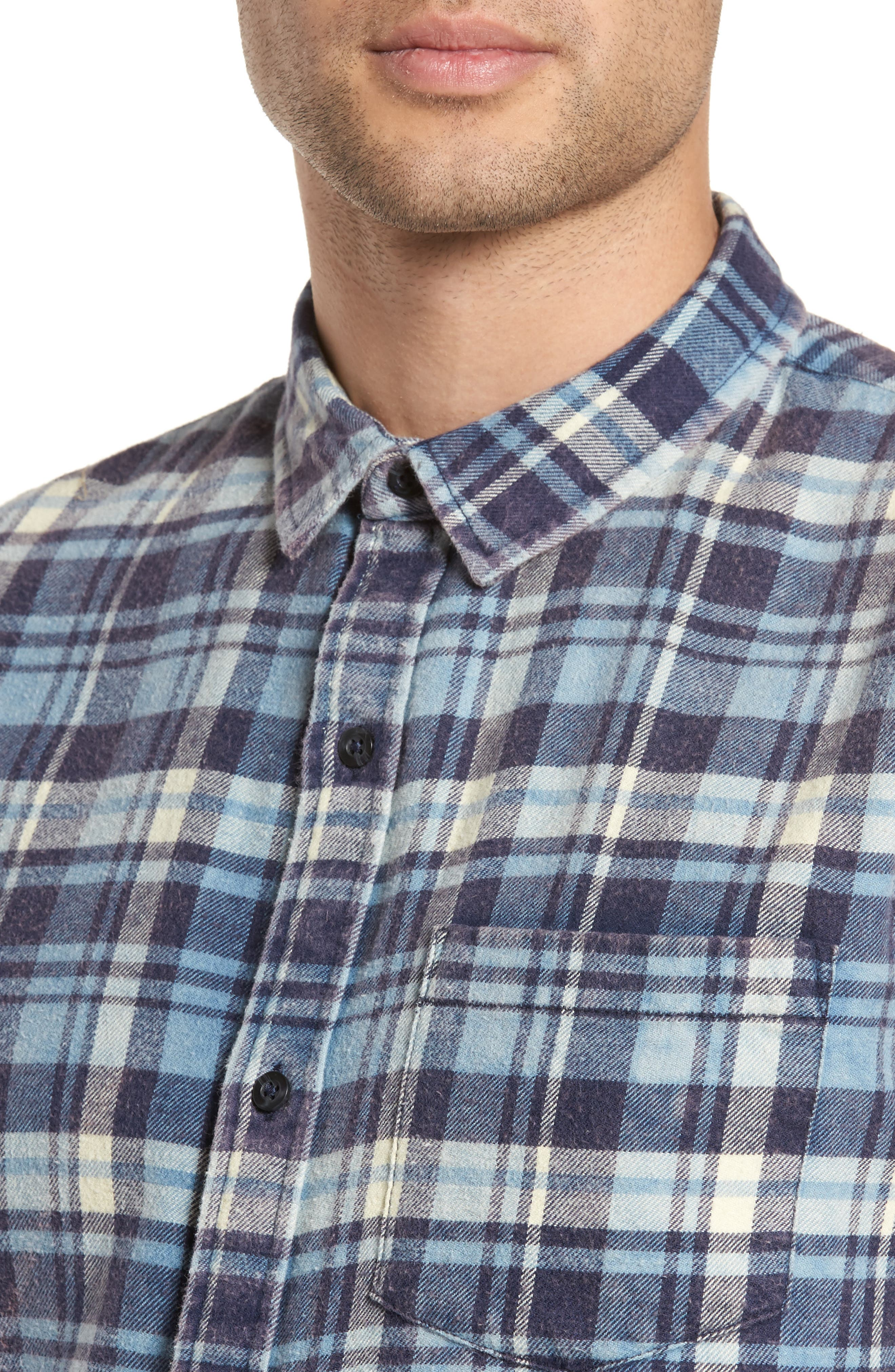 Plaid Flannel Shirt,                             Alternate thumbnail 4, color,                             420