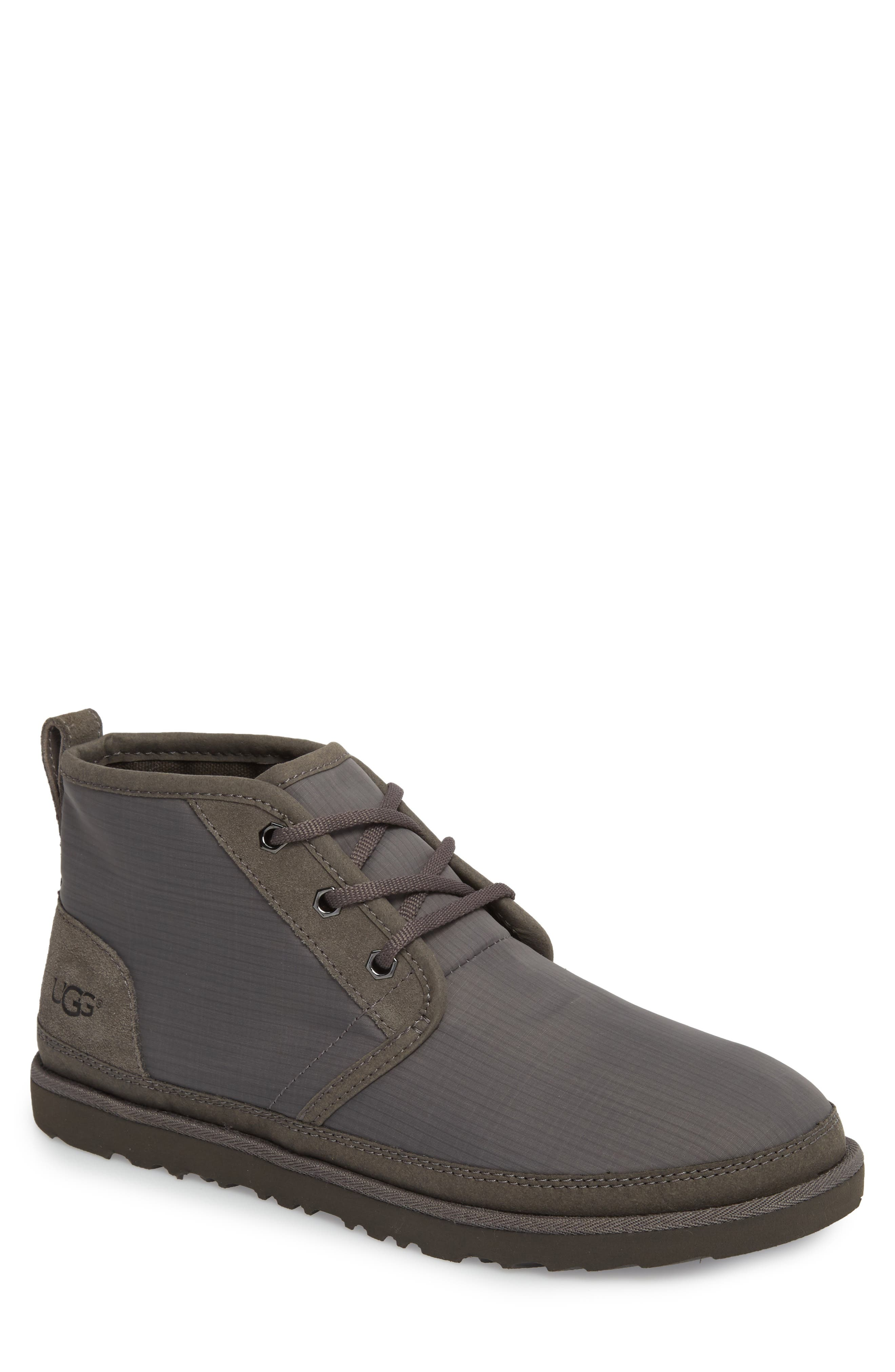 Neumel Ripstop Chukka Boot,                         Main,                         color, CHARCOAL LEATHER