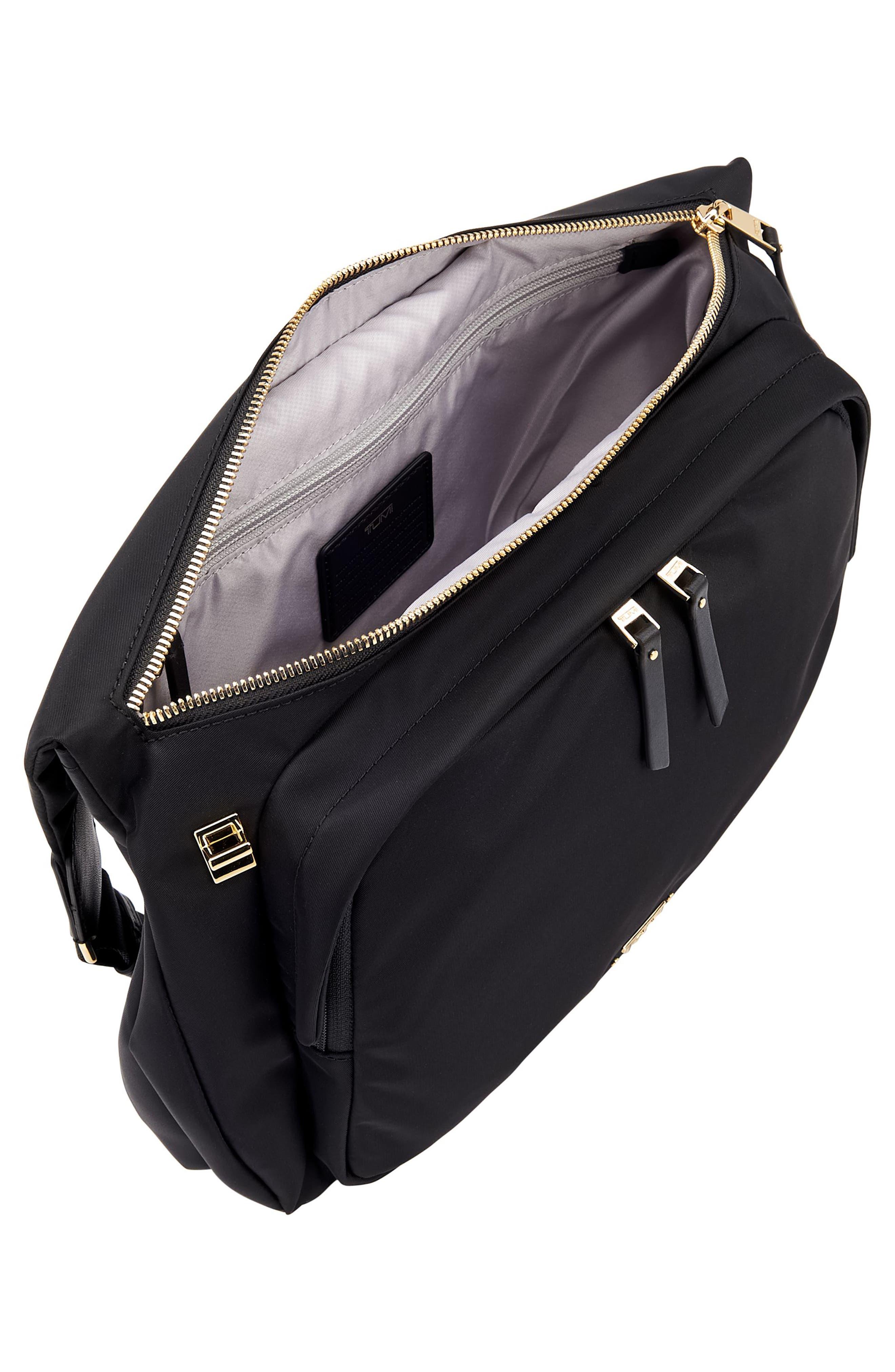 Voyager - Siam Nylon Crossbody Bag,                             Alternate thumbnail 4, color,                             BLACK