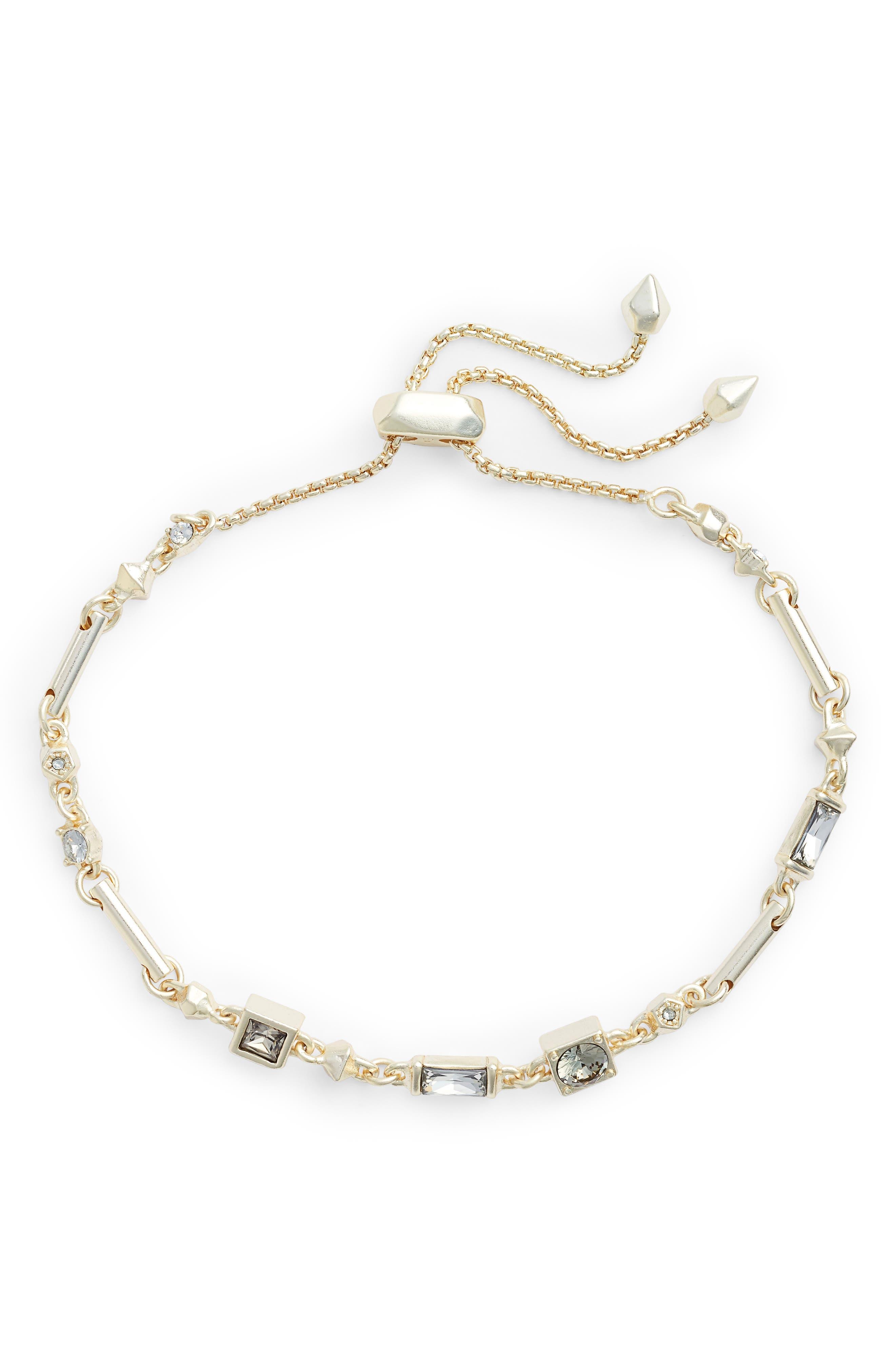 Lilo Slider Bracelet,                             Main thumbnail 1, color,                             SMOKY MIX/ GOLD