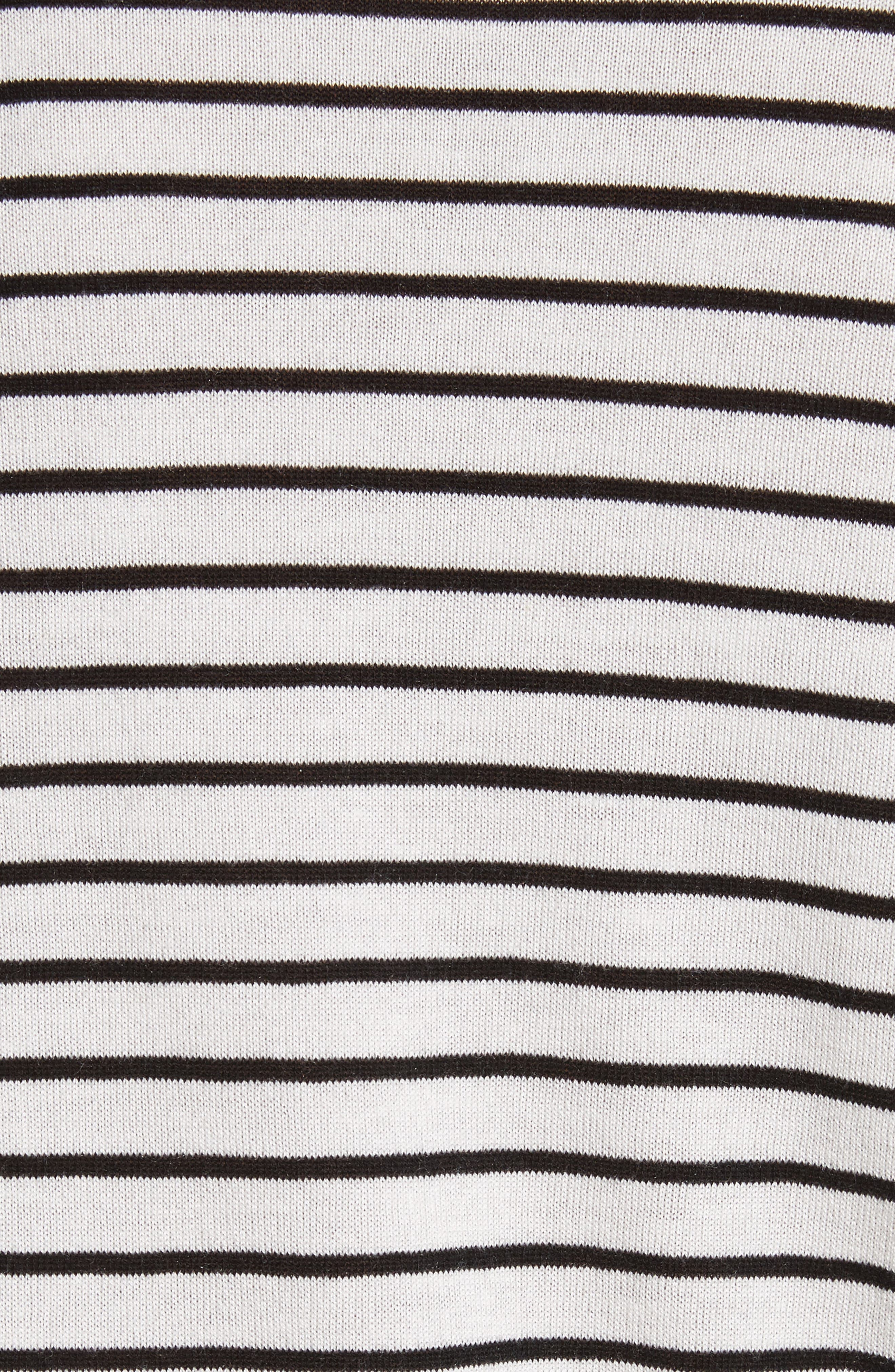 Stripe Silk Blend Sweater,                             Alternate thumbnail 5, color,                             107