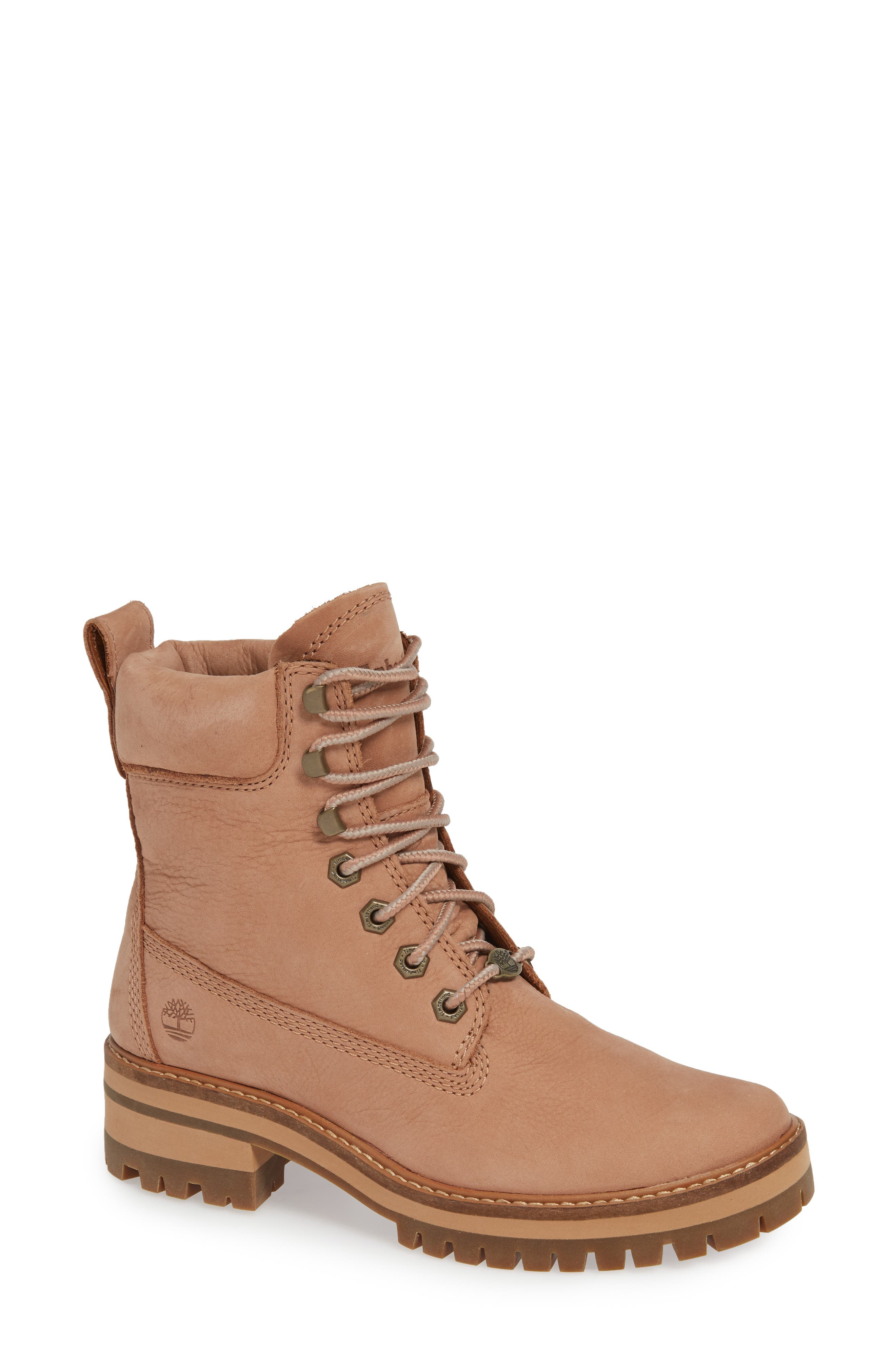 Courmayeur Valley Water Resistant Hiking Boot,                             Main thumbnail 1, color,                             TAWNY BROWN NUBUCK