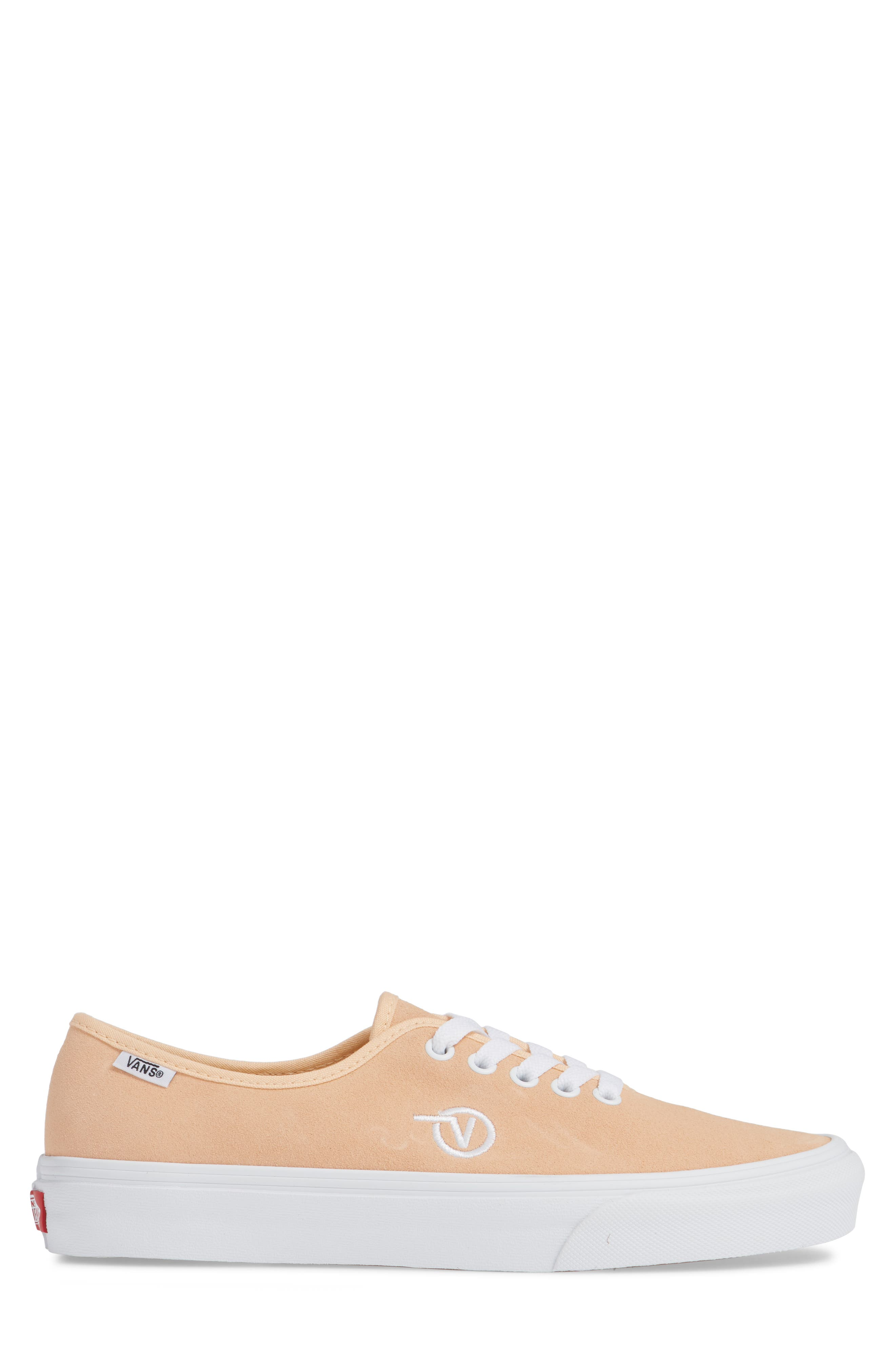 Authentic One-Piece Sneaker,                             Alternate thumbnail 3, color,                             BLEACHED APRICOT/ SUEDE
