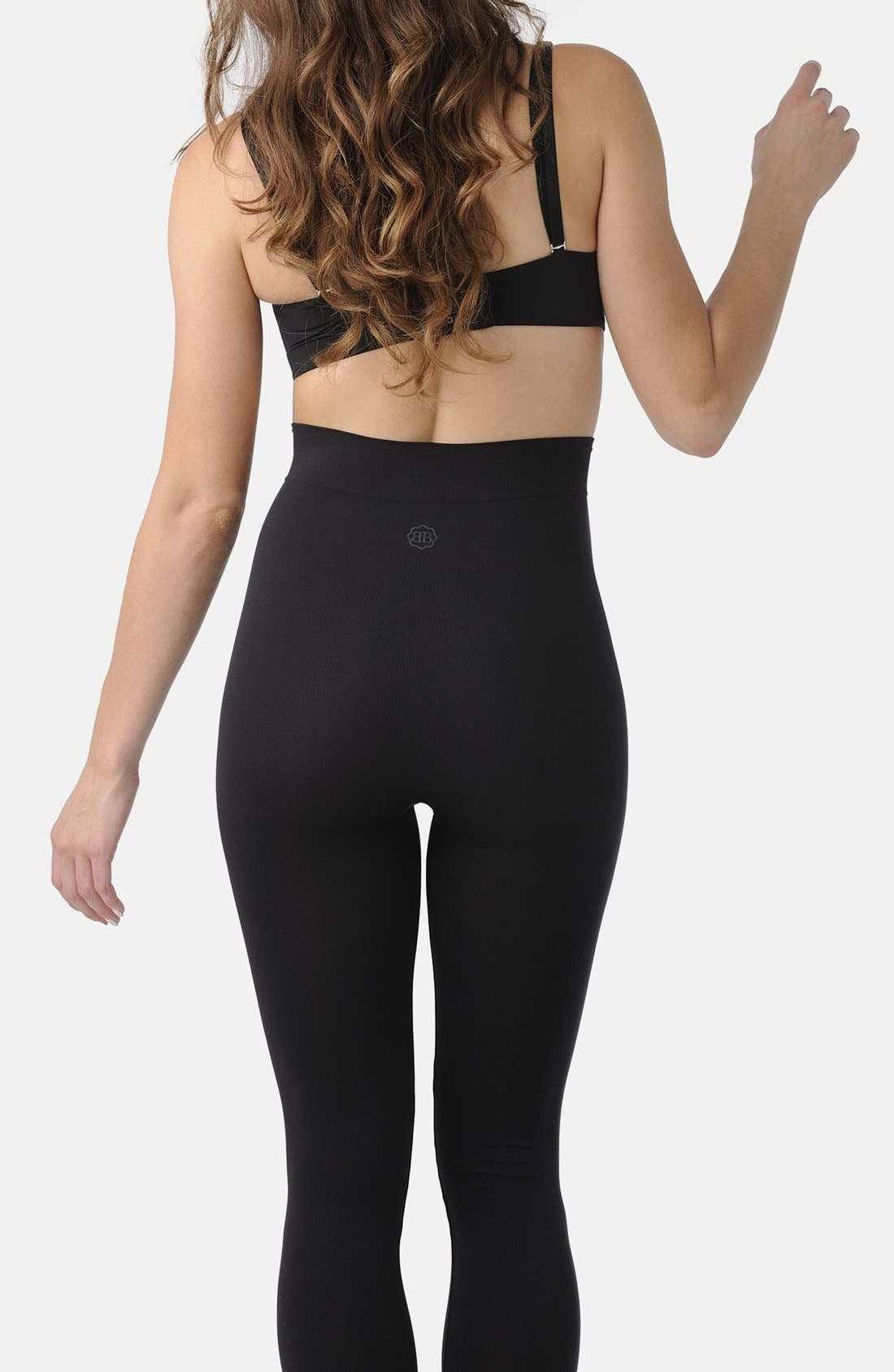 BELLY BANDIT<SUP>®</SUP>,                             B.D.A.<sup>™</sup> Stretch Knit Leggings,                             Alternate thumbnail 6, color,                             BLACK