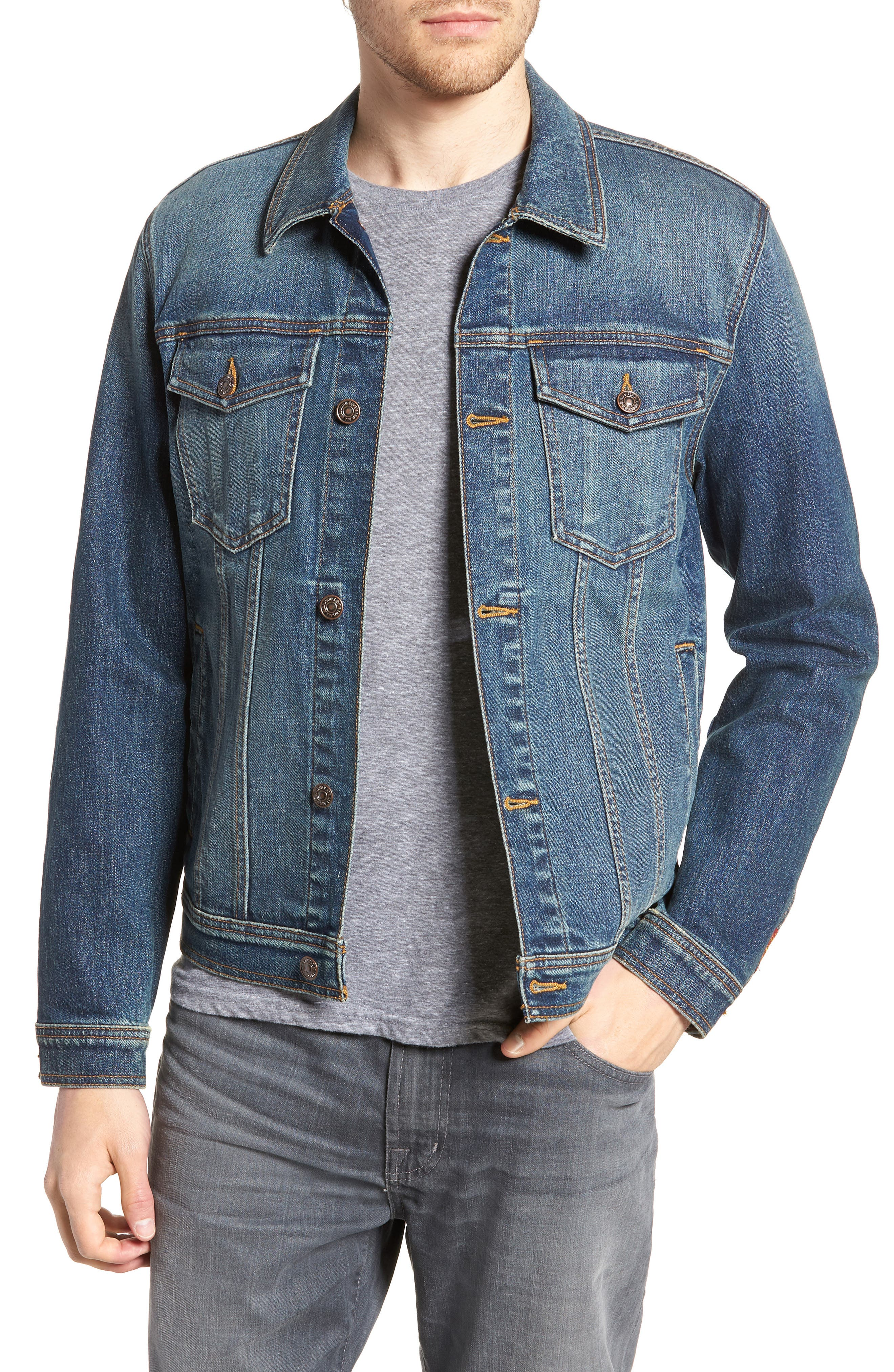 7 FOR ALL MANKIND<SUP>®</SUP>,                             Trucker Jacket,                             Main thumbnail 1, color,                             400