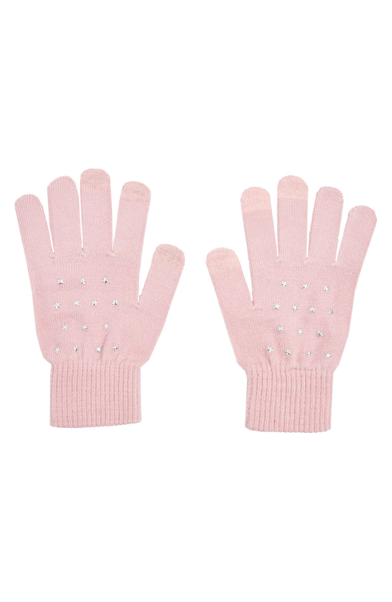Star Knit Gloves,                         Main,                         color, 250