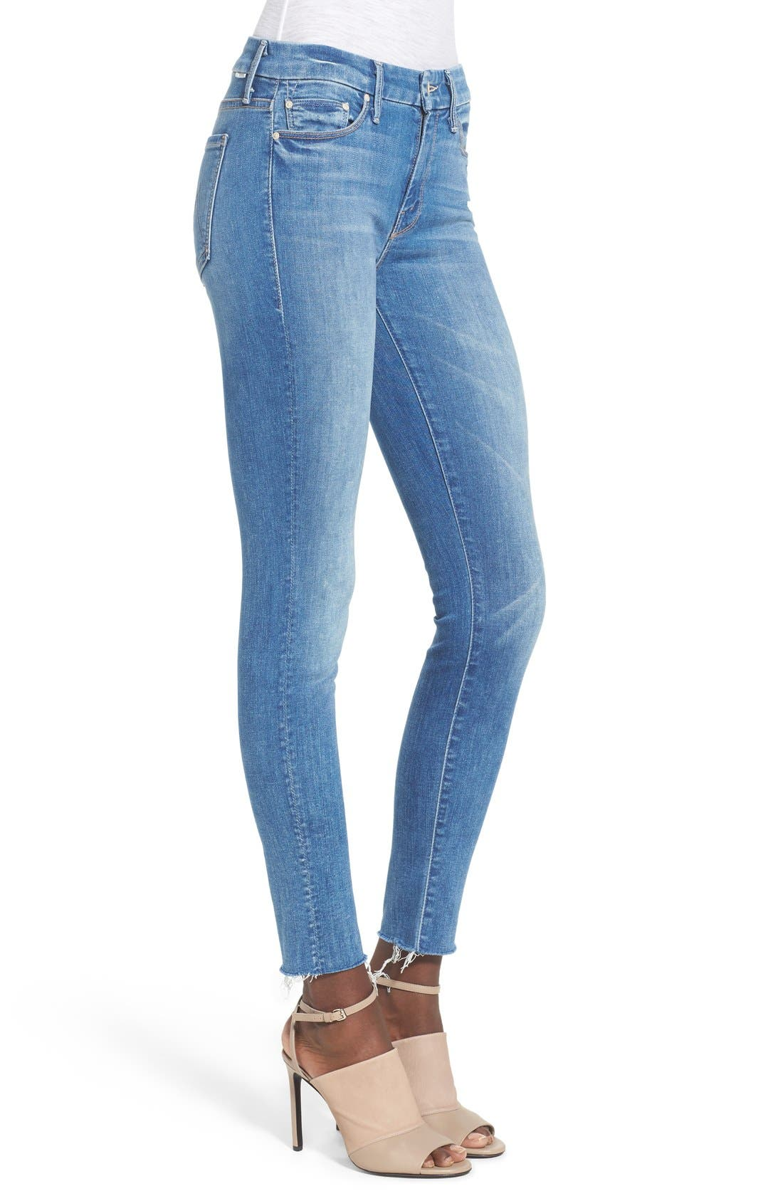 'The Looker' Fray Ankle Jeans,                             Alternate thumbnail 4, color,                             BIRDS OF PARADISE