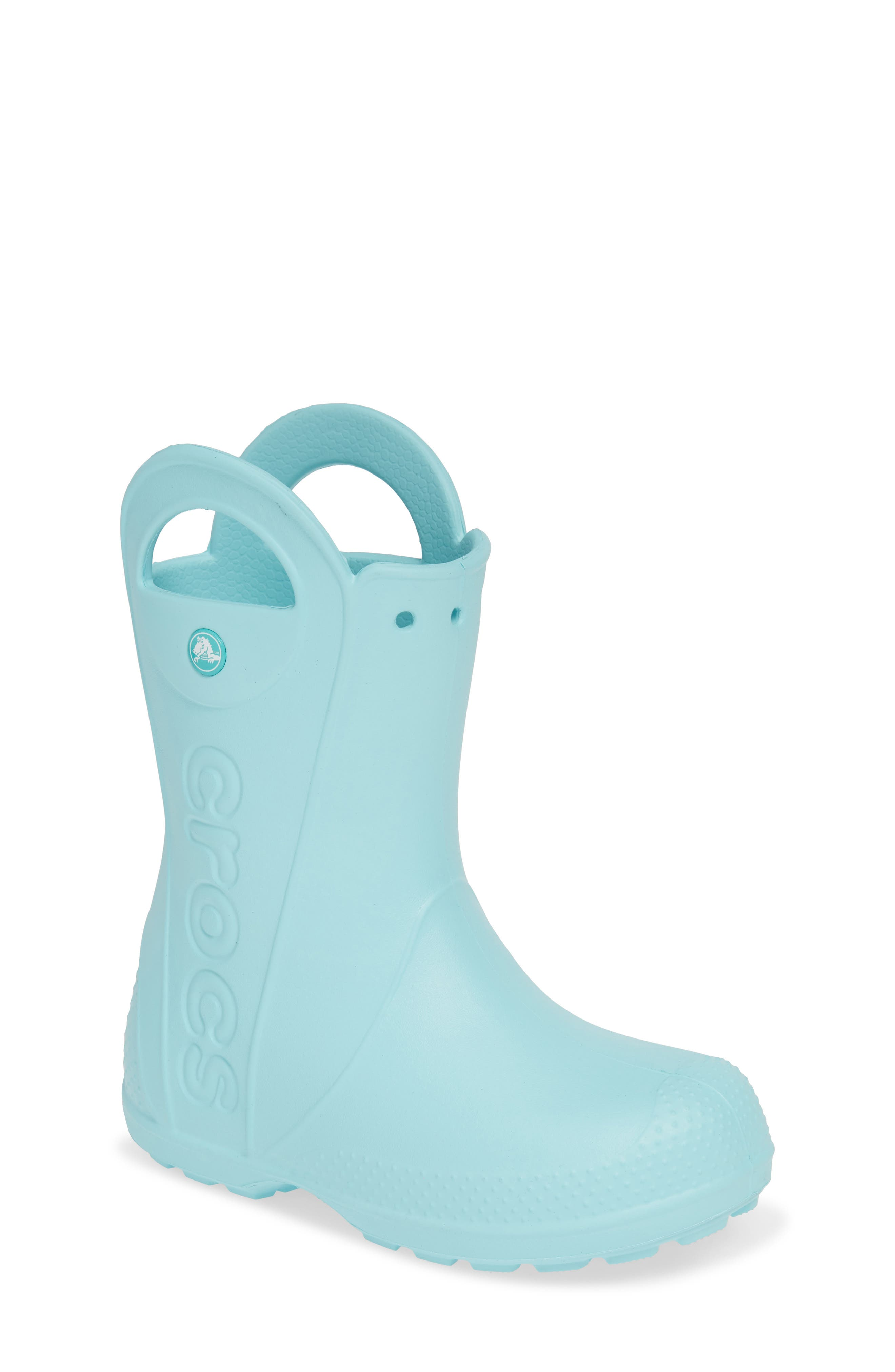 CROCS<SUP>™</SUP>,                             Handle It Waterproof Rain Boot,                             Main thumbnail 1, color,                             ICE BLUE