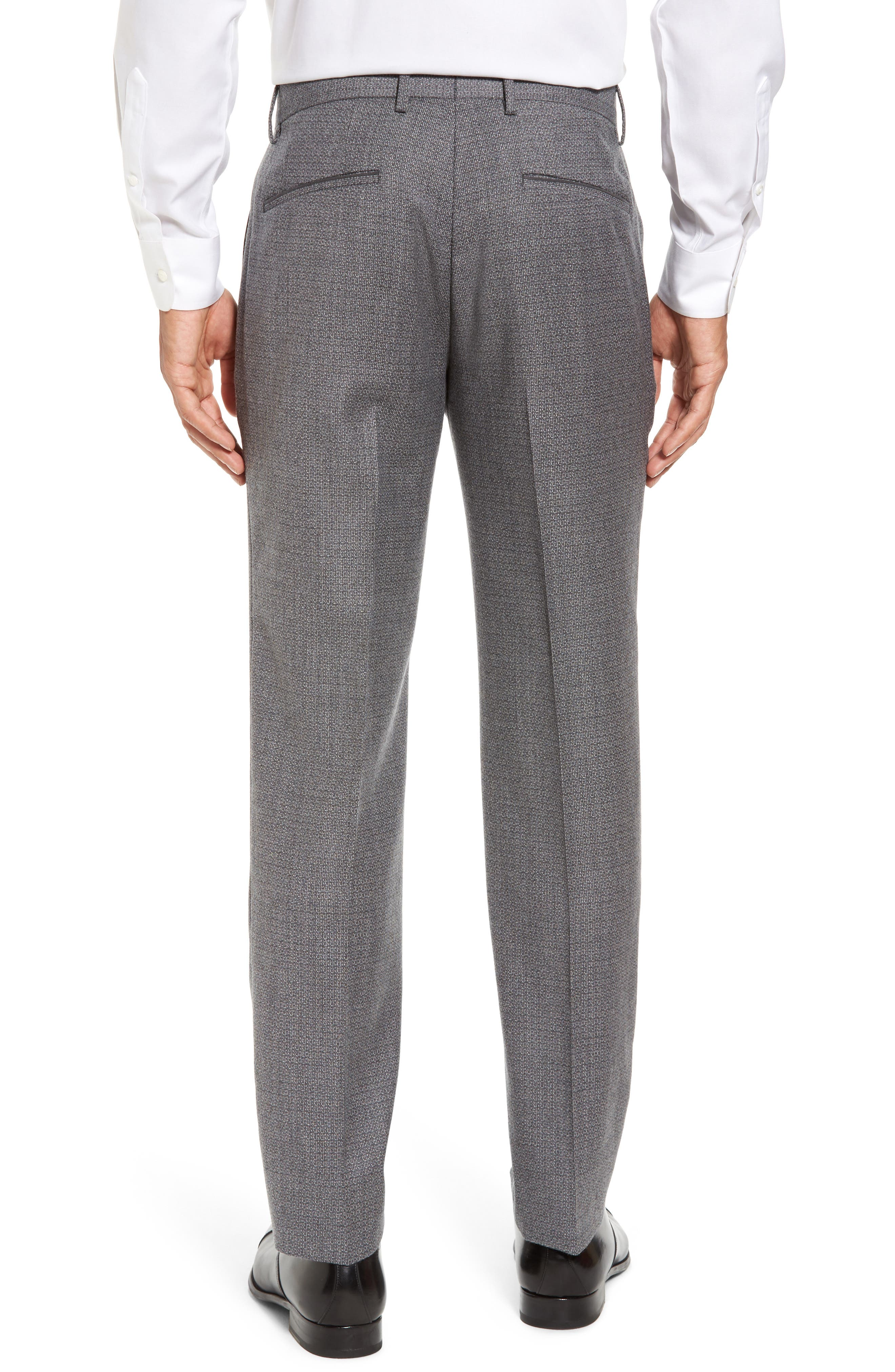 Giro Flat Front Solid Wool Trousers,                             Alternate thumbnail 2, color,                             030