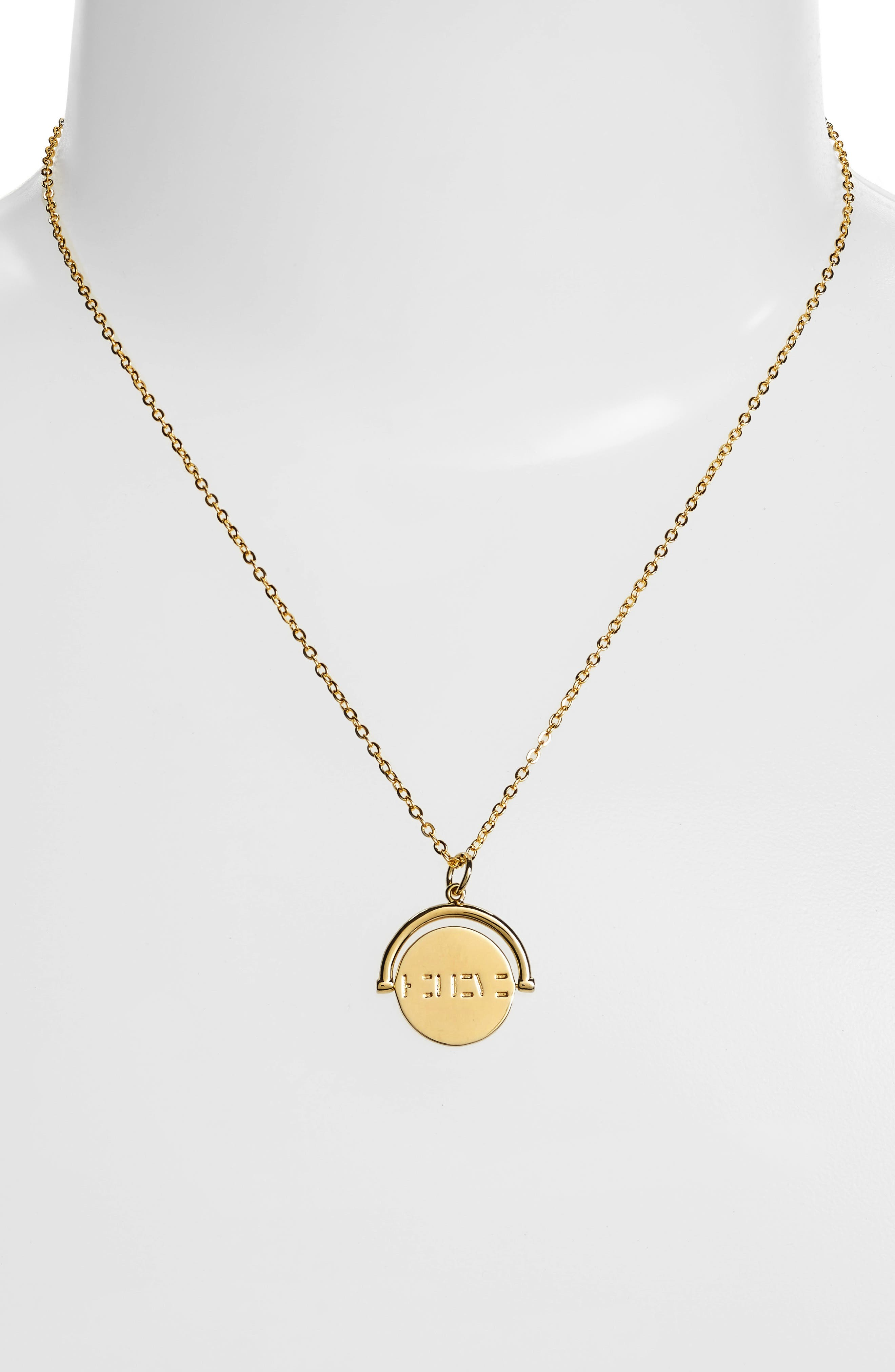 Love Love Code Charm Necklace,                             Alternate thumbnail 2, color,                             710