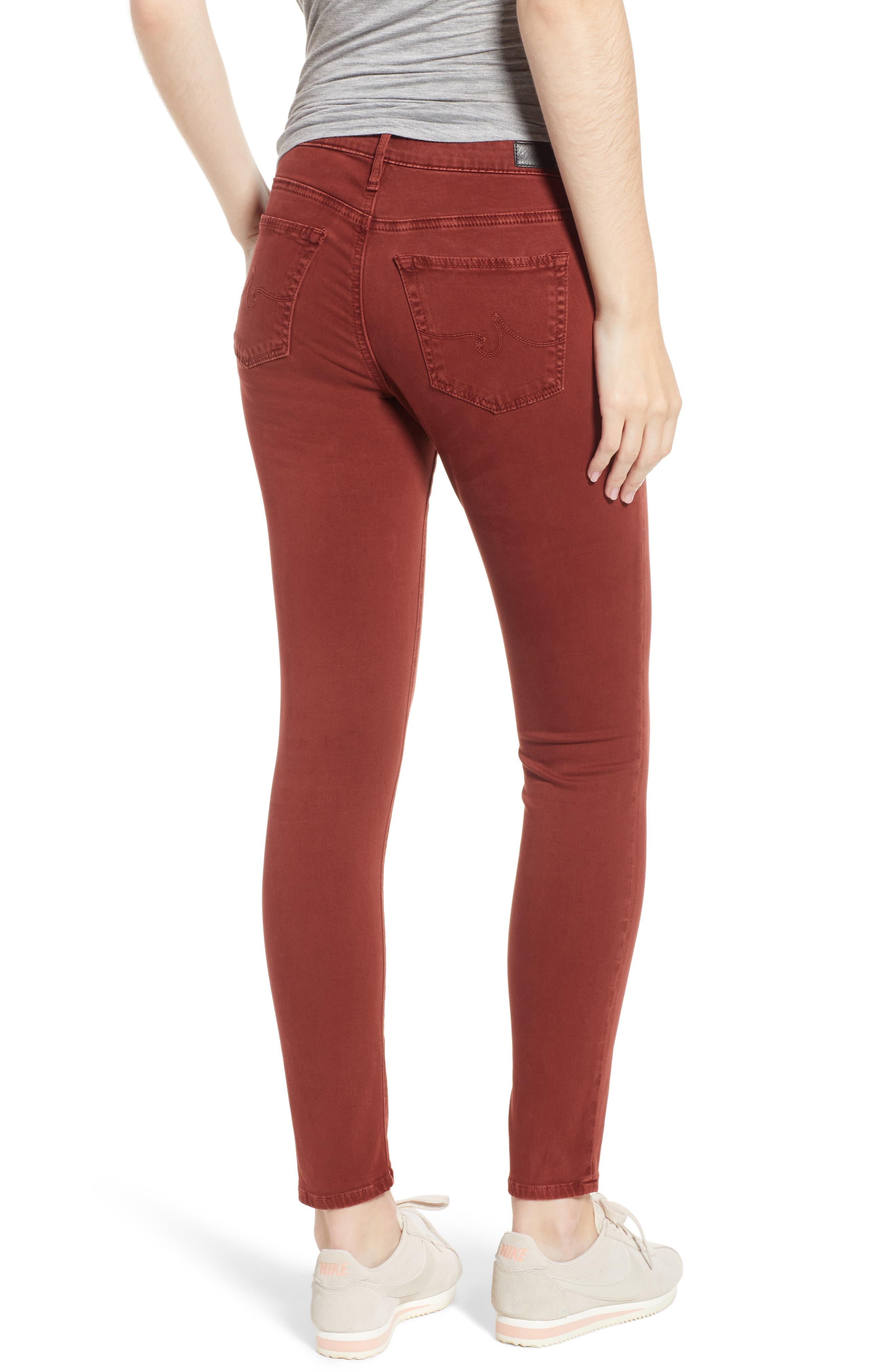 The Legging Ankle Jeans,                             Alternate thumbnail 2, color,                             SULFUR TANNIC RED