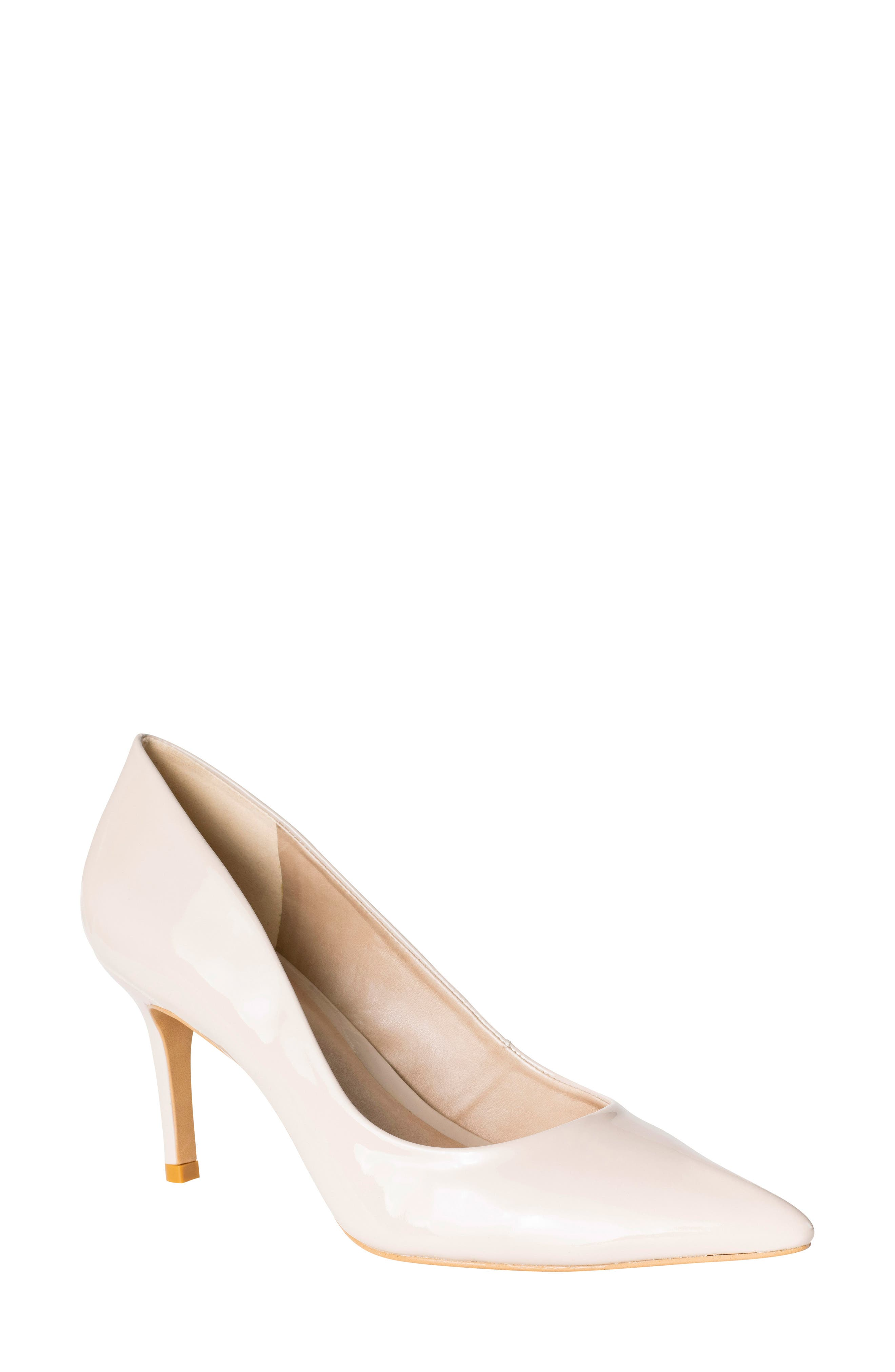 Anya Pointy Toe Pump,                             Main thumbnail 1, color,                             NUDE PATENT LEATHER