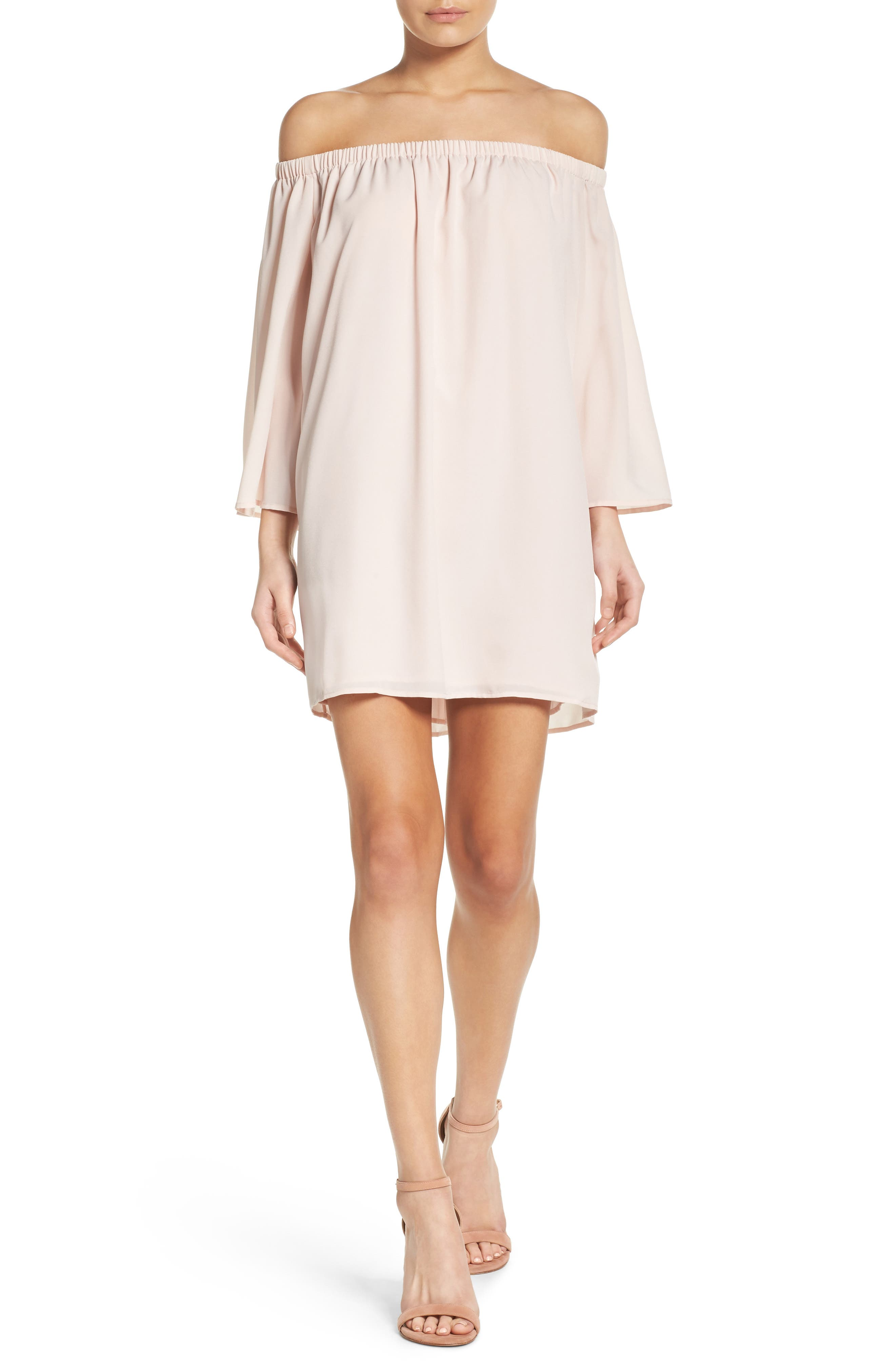 Polly Off the Shoulder Dress,                             Alternate thumbnail 15, color,