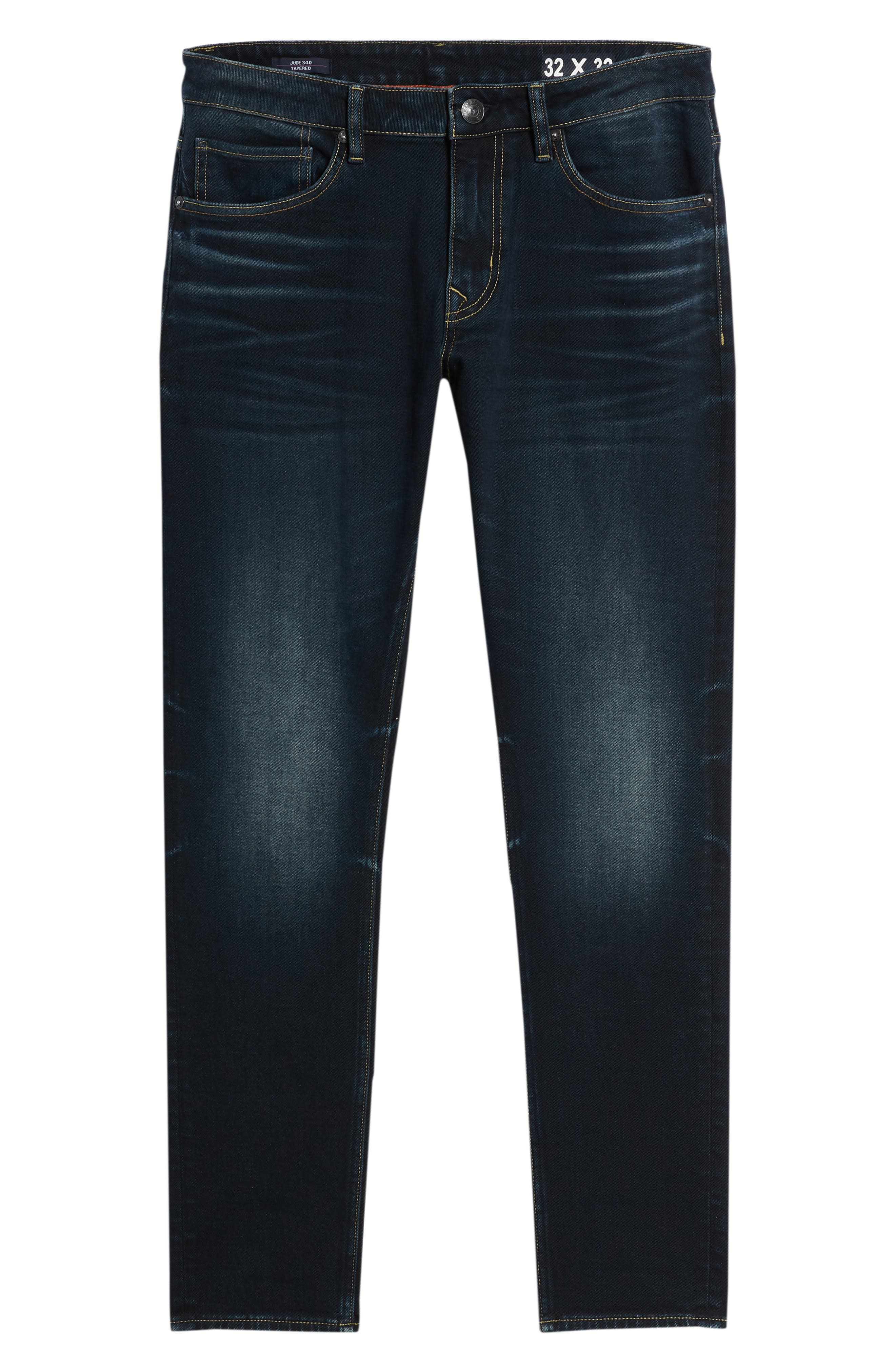 Jude Slim Fit Jeans,                             Alternate thumbnail 6, color,                             DARK 3D WASH