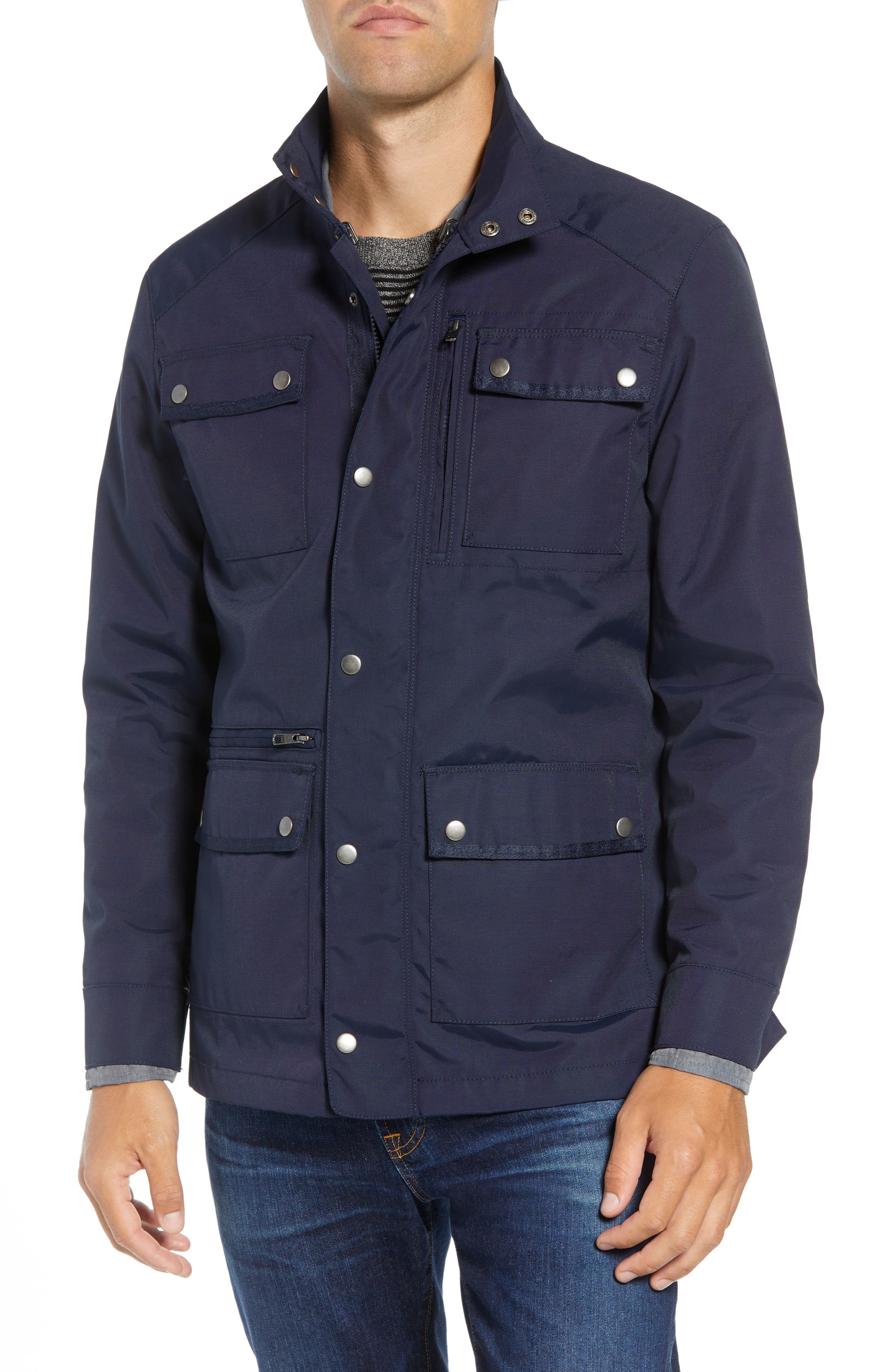 'Ethan' 3-in-1 Field Jacket,                             Alternate thumbnail 5, color,                             NAVY