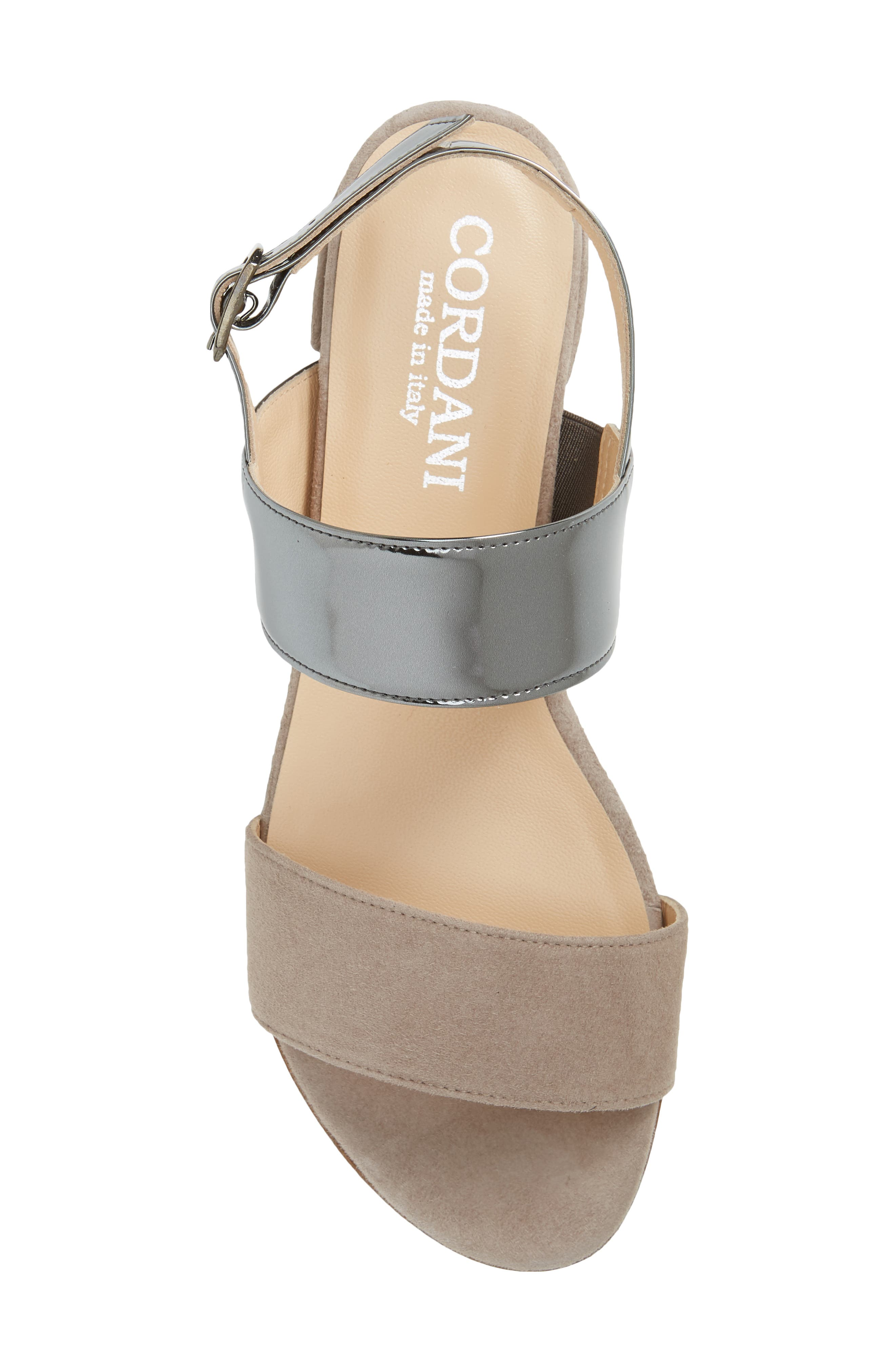 Prudence Sandal,                             Alternate thumbnail 5, color,                             GREY SUEDE