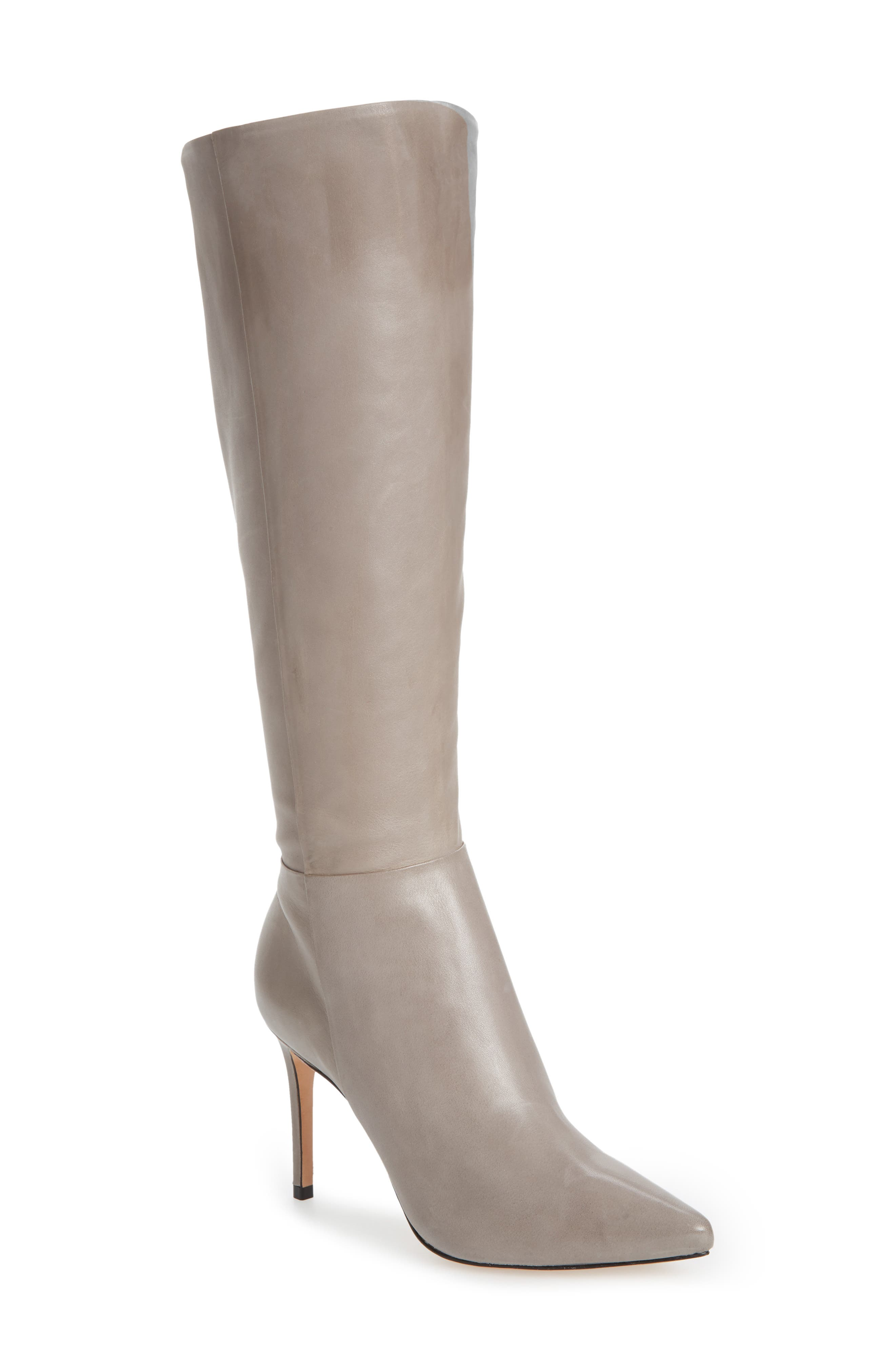 Magalli Knee High Boot,                         Main,                         color, MOUSE LEATHER