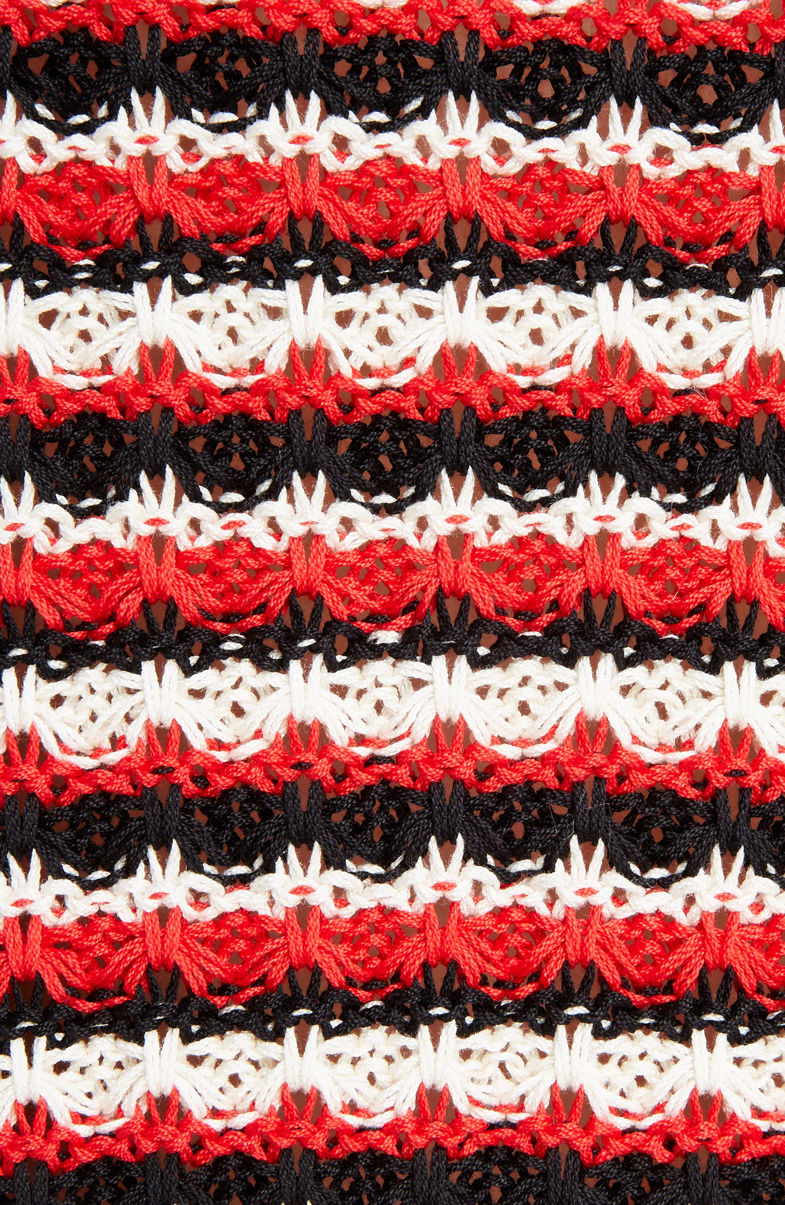 Crochet Stripe Sweater,                             Alternate thumbnail 5, color,                             600
