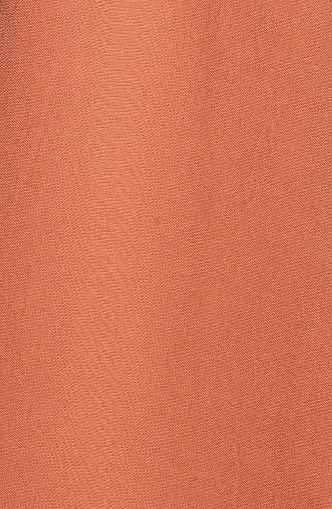 Draped Twill Trench Coat,                             Alternate thumbnail 6, color,                             200