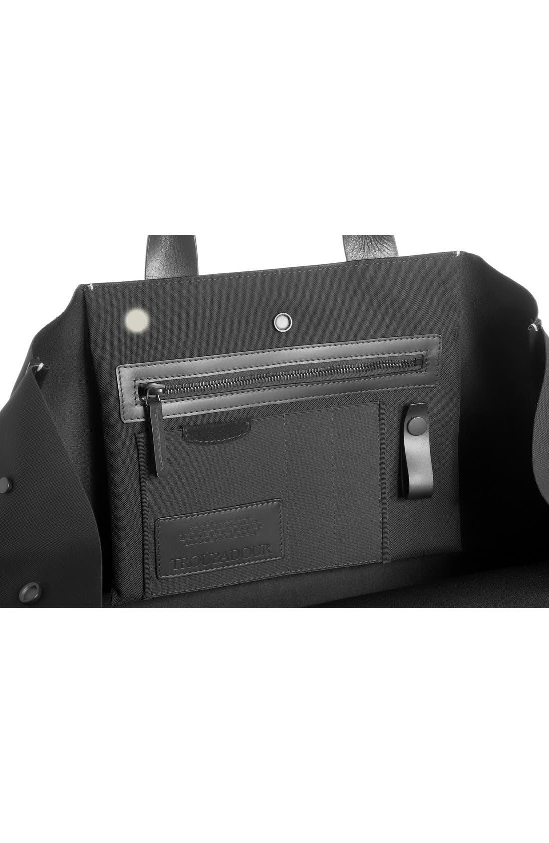 Nylon & Leather Tote Bag,                             Alternate thumbnail 2, color,                             001