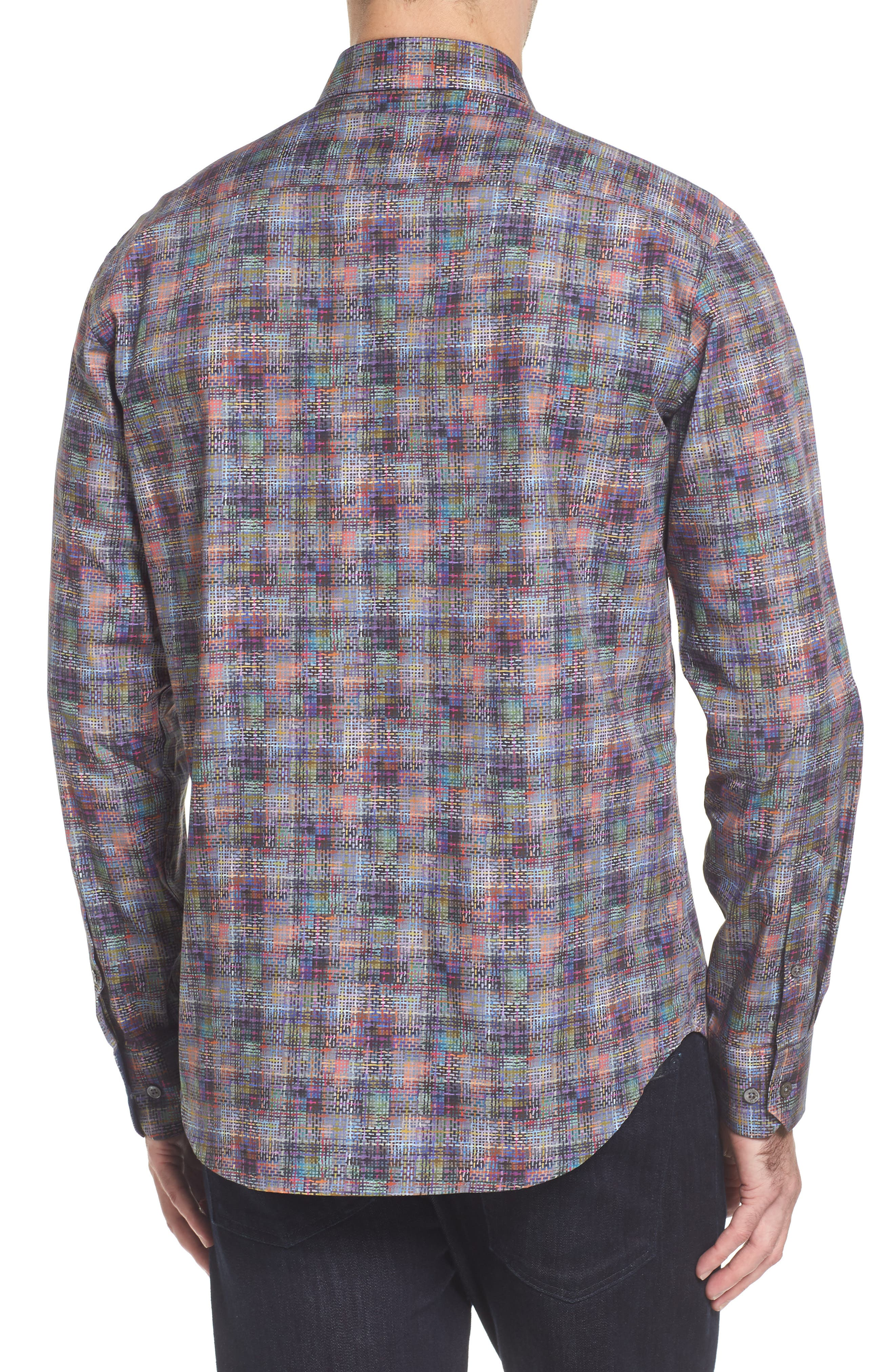 Shaped Fit Print Sport Shirt,                             Alternate thumbnail 2, color,                             513