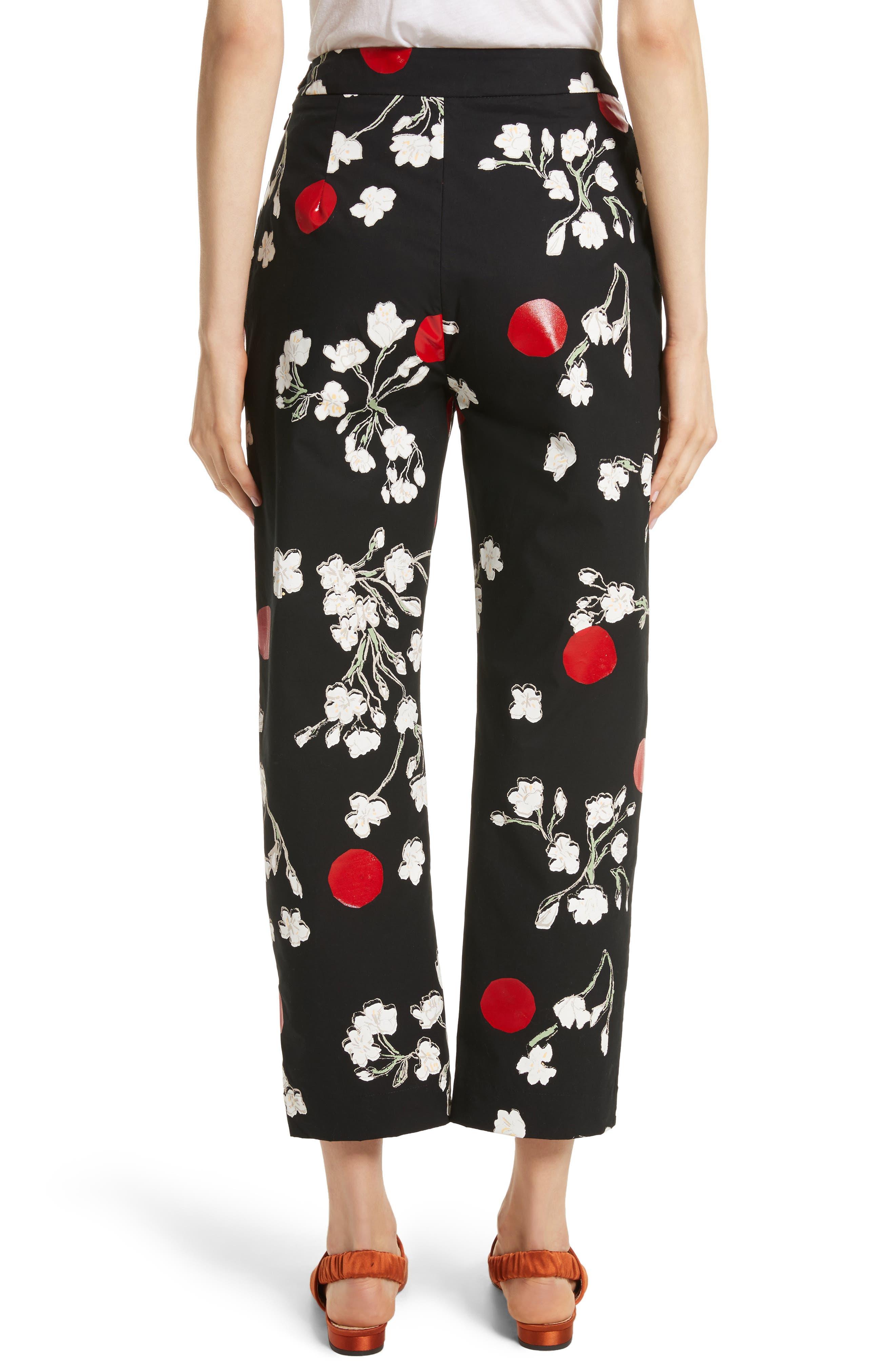 Classic Pantalone Crop Pants,                             Alternate thumbnail 2, color,                             001