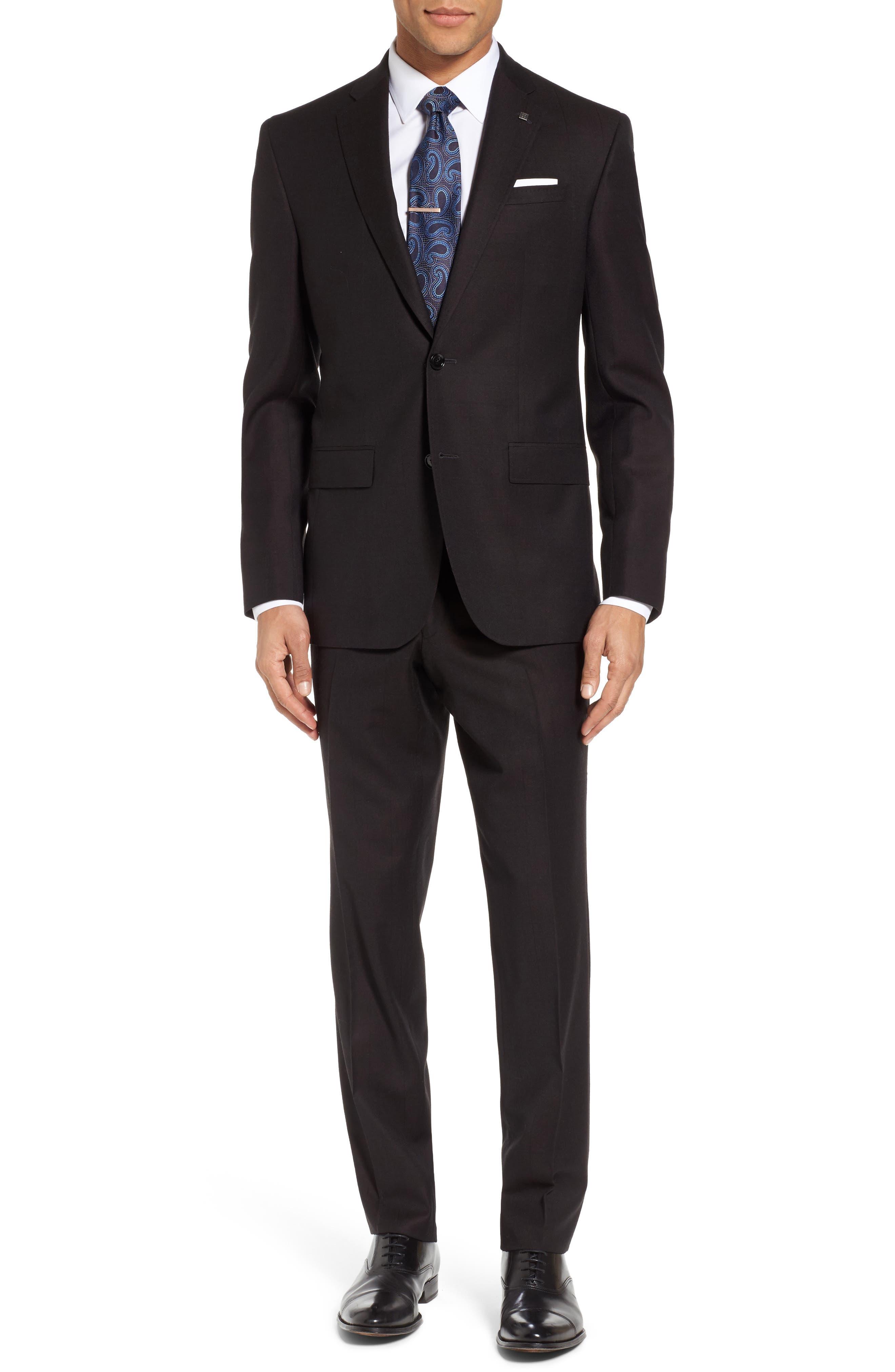 Jay Trim Fit Solid Wool Suit,                         Main,                         color, 200