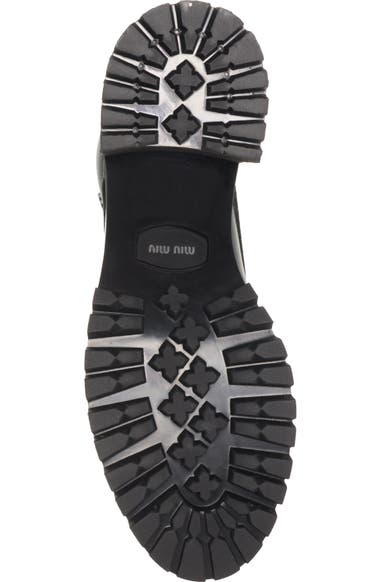 782cc69804434 Miu Miu Lugged Sole Combat Boot (Women)