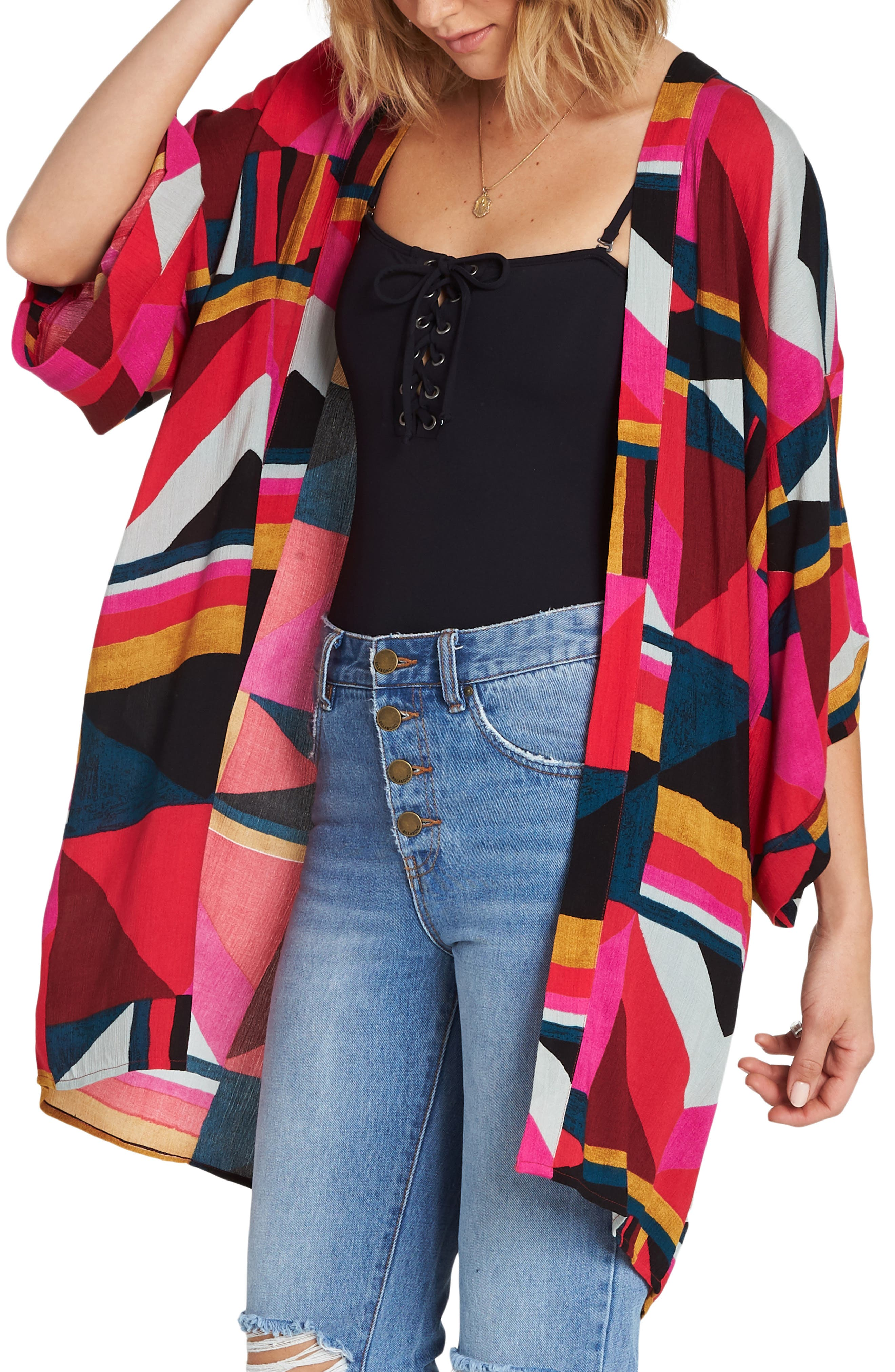 Precious Stone Kimono,                             Alternate thumbnail 3, color,                             MULTI