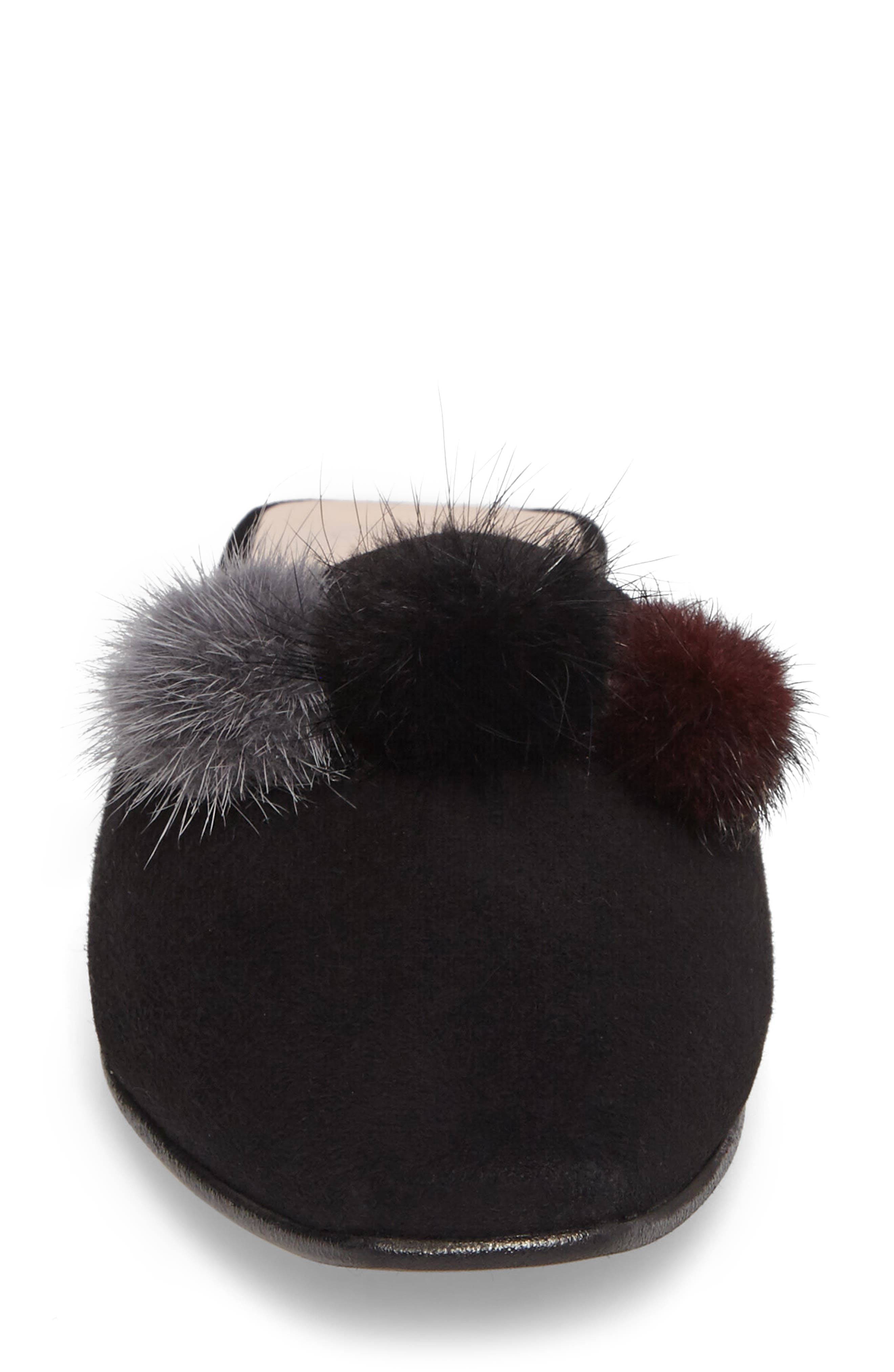Cerise Genuine Fur Mule,                             Alternate thumbnail 7, color,