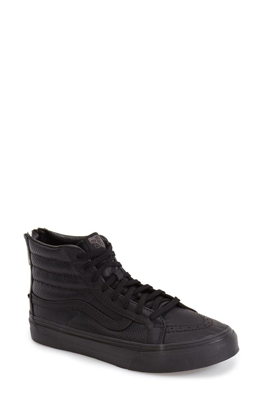 'Sk8-Hi Slim' Perforated Sneaker,                             Main thumbnail 1, color,