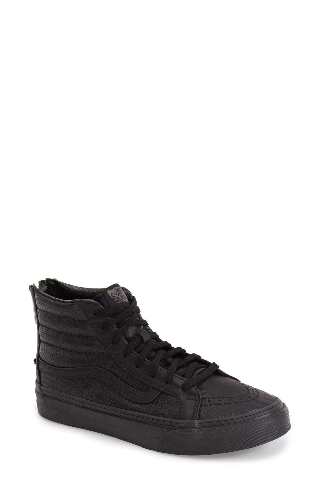 'Sk8-Hi Slim' Perforated Sneaker,                         Main,                         color,