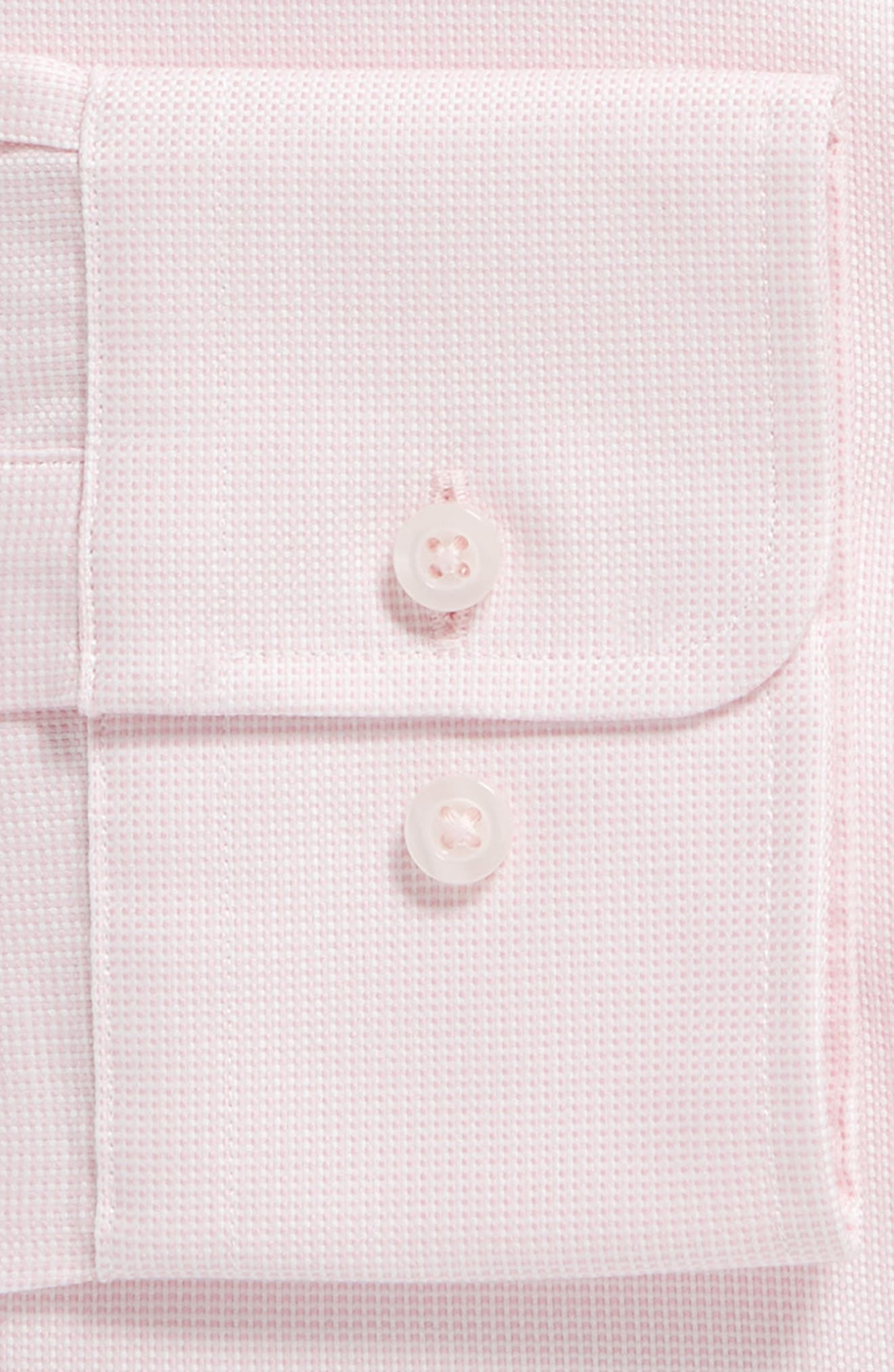Trim Fit Solid Dress Shirt,                             Alternate thumbnail 6, color,                             PINK