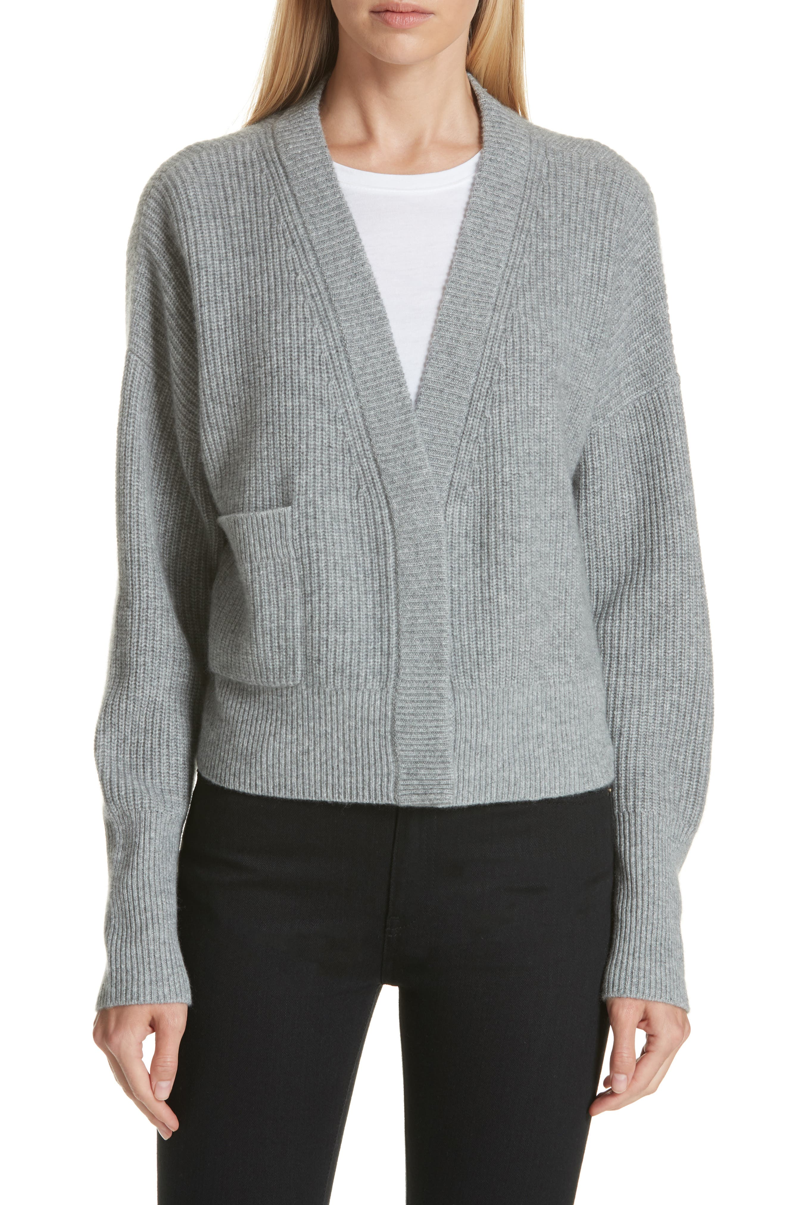 One-Pocket Cashmere Cardigan,                             Main thumbnail 1, color,                             030