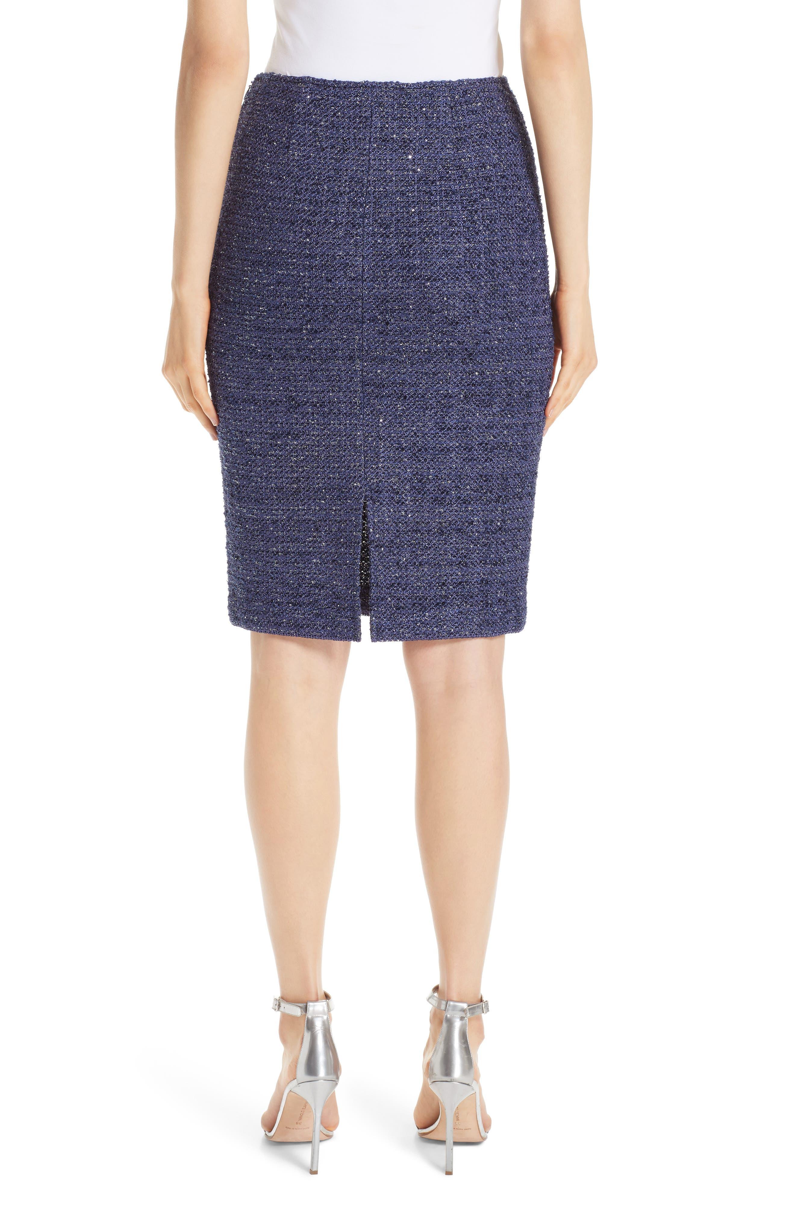 Starlight Knit Pencil Skirt,                             Alternate thumbnail 2, color,                             VIOLA MULTI