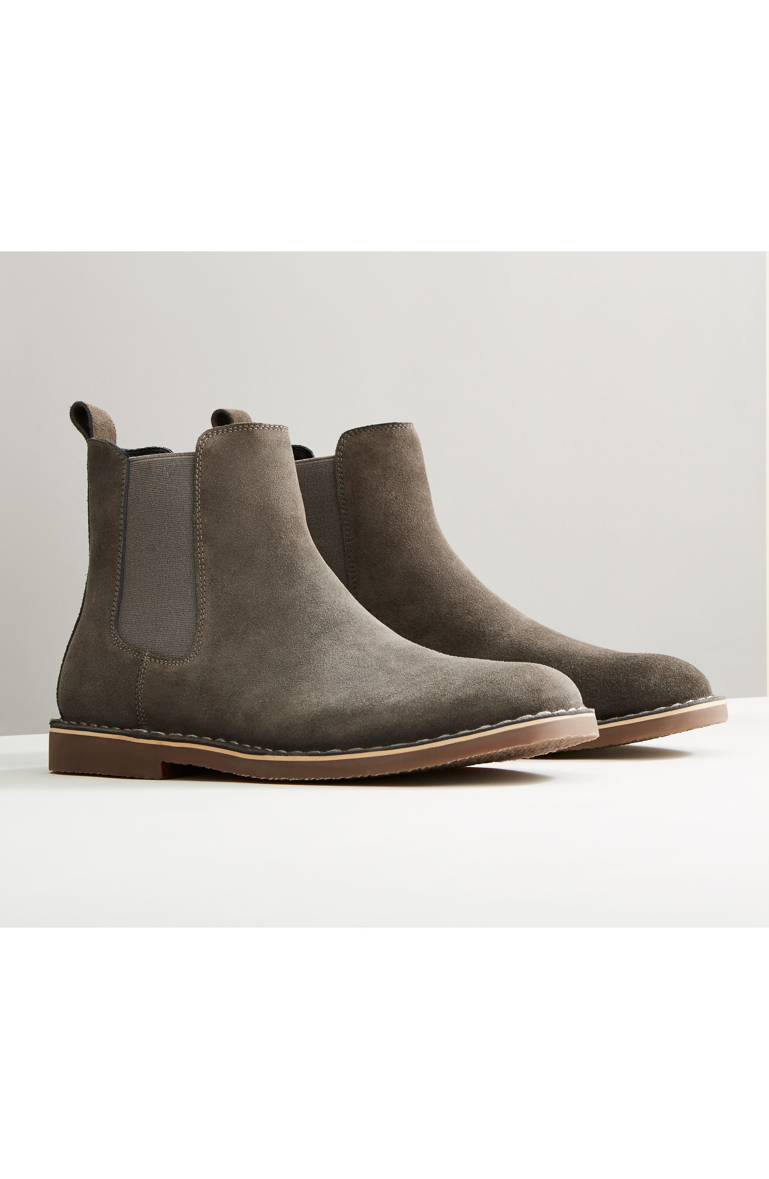 Mesa Chelsea Boot,                             Alternate thumbnail 7, color,                             BURGUNDY SUEDE