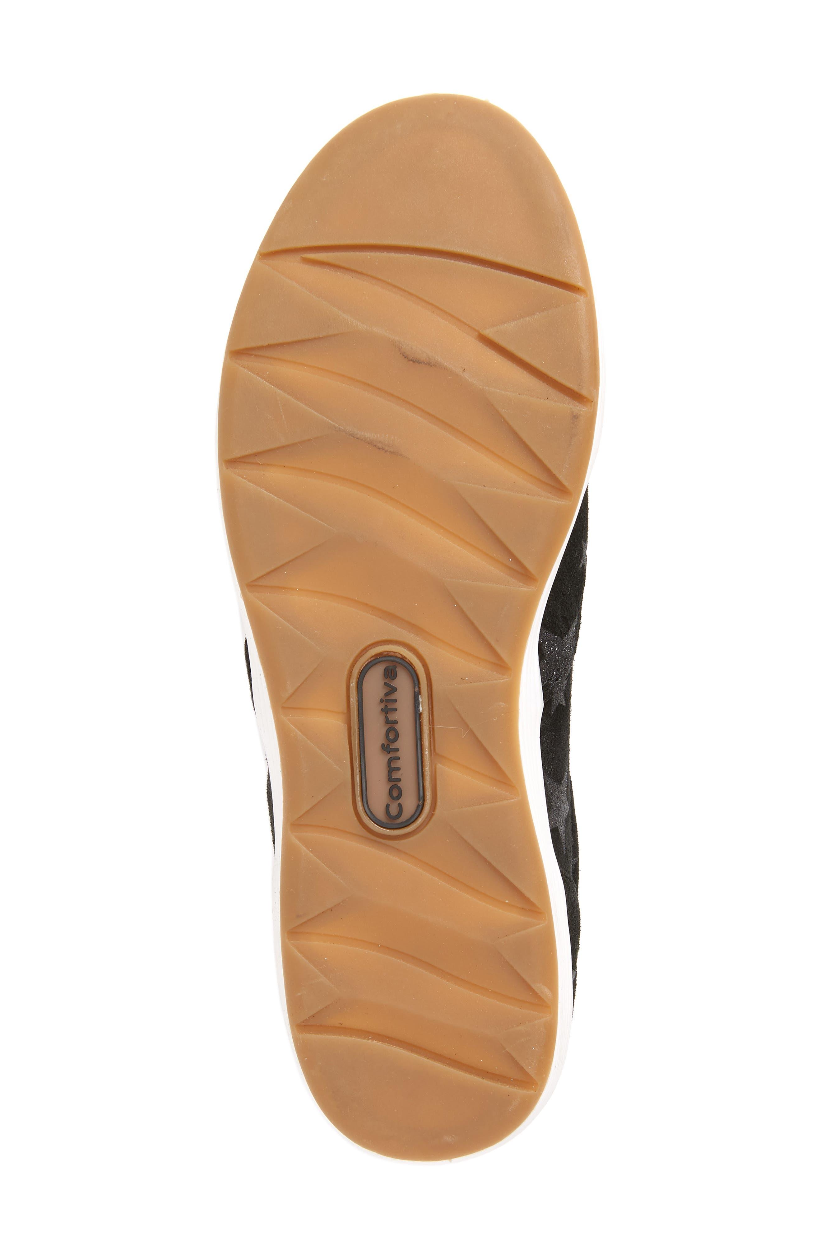 Linette Suede Slip-On Sneaker,                             Alternate thumbnail 6, color,                             BLACK SUEDE