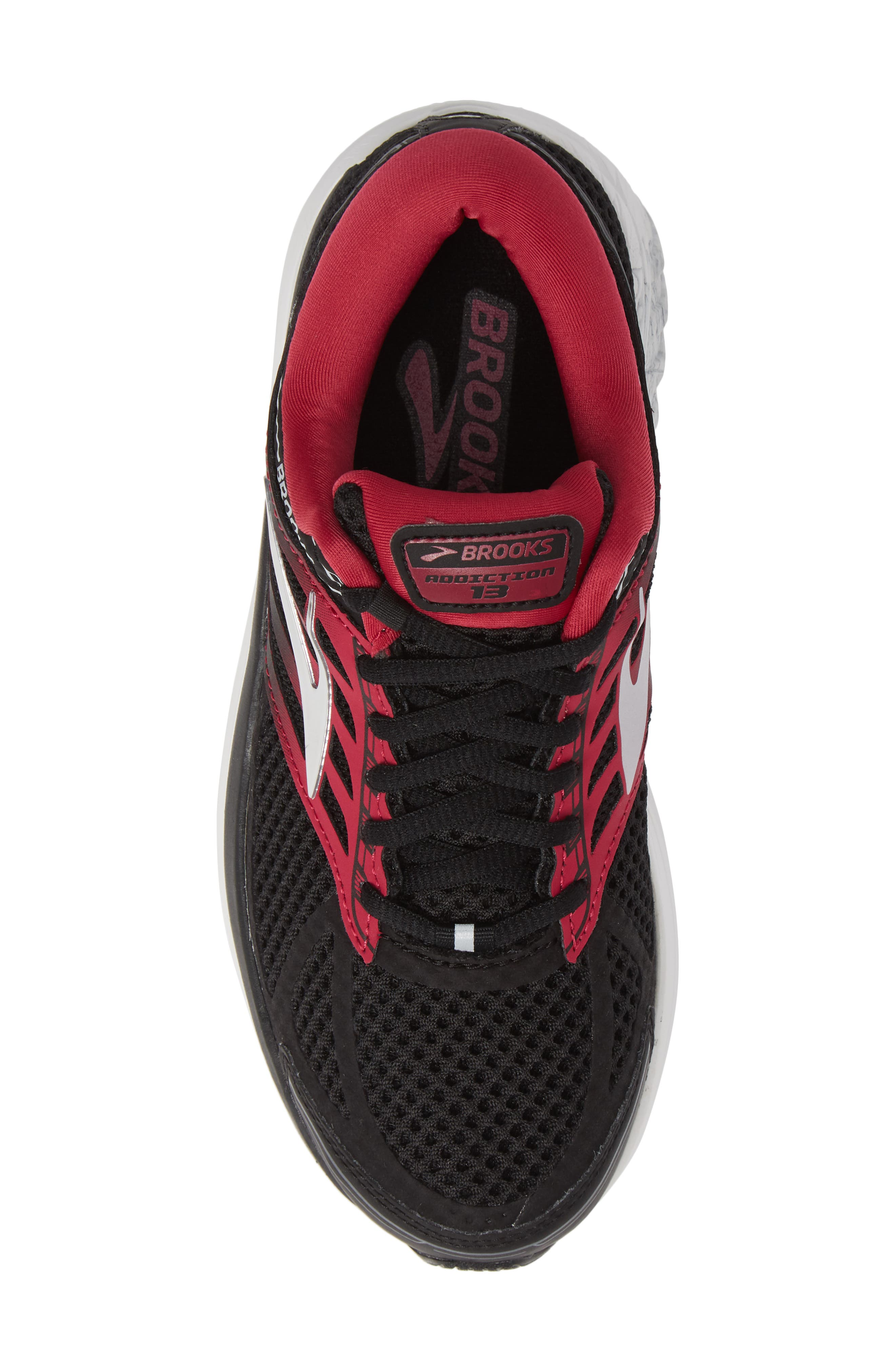 Addiction 13 Running Shoe,                             Alternate thumbnail 5, color,                             BLACK/ PINK/ GREY