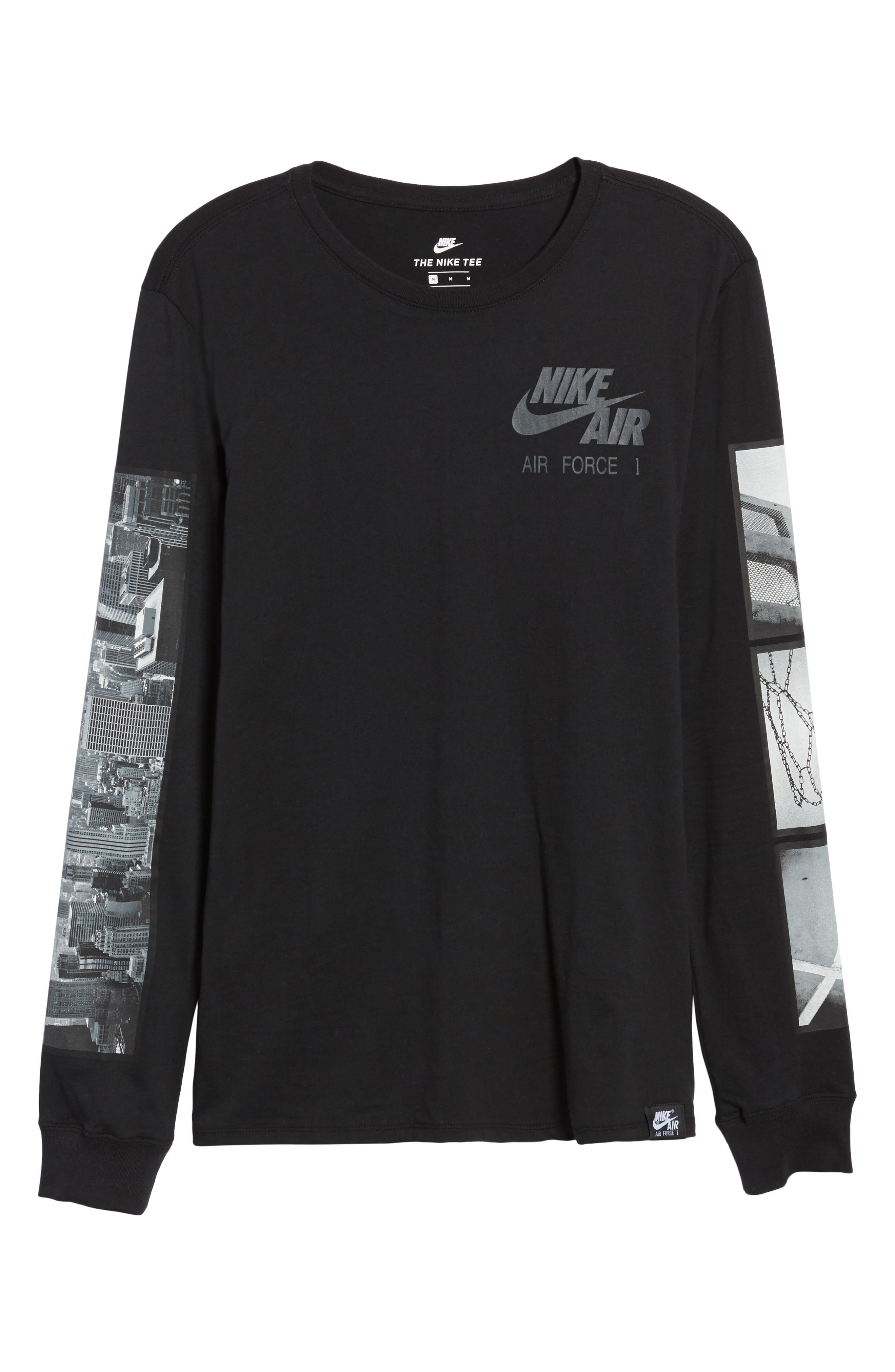 Air Force 1 Long Sleeve T-Shirt,                             Alternate thumbnail 6, color,                             010