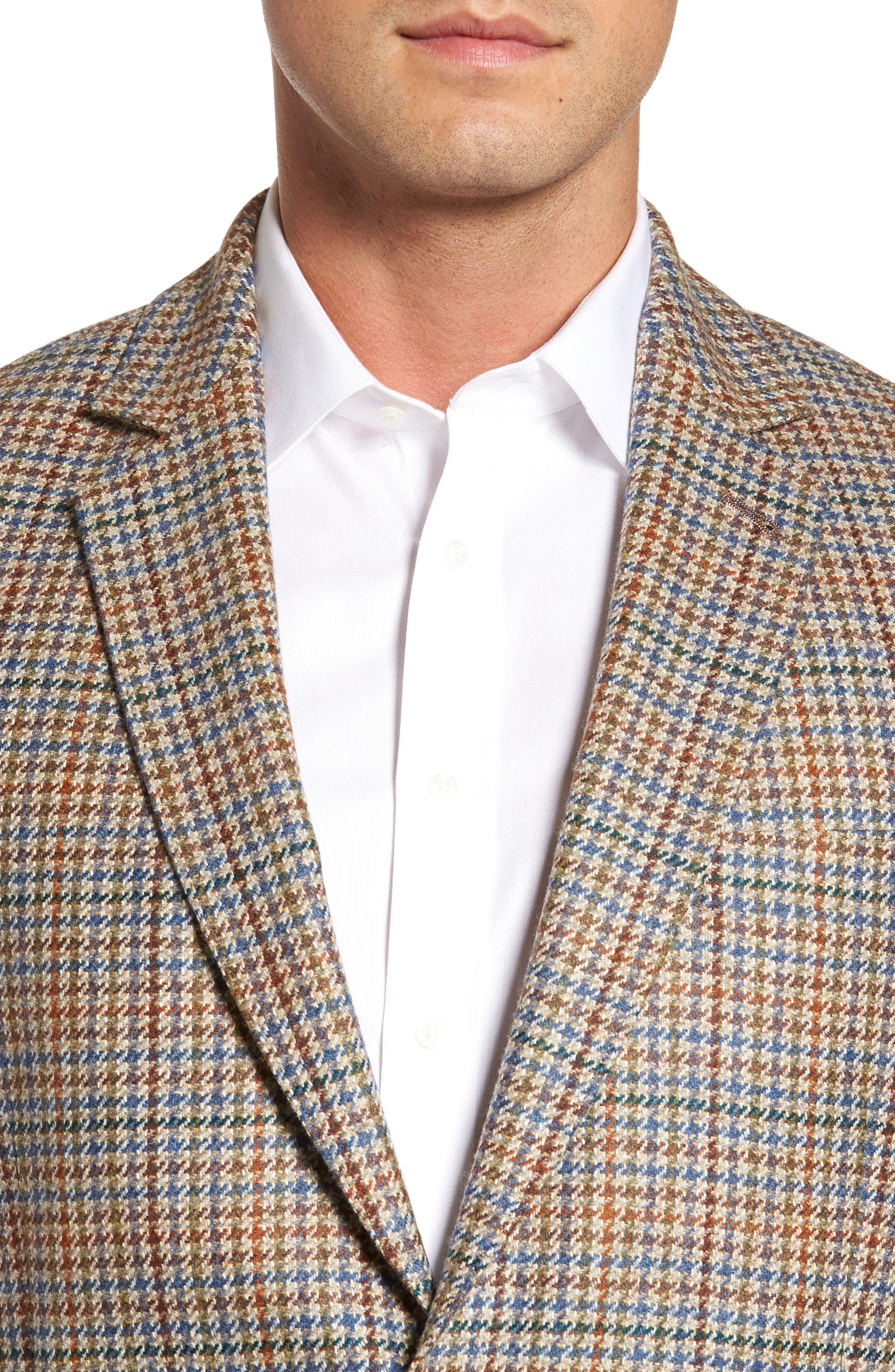 Houndstooth Wool Blend Sport Coat,                             Alternate thumbnail 4, color,                             250