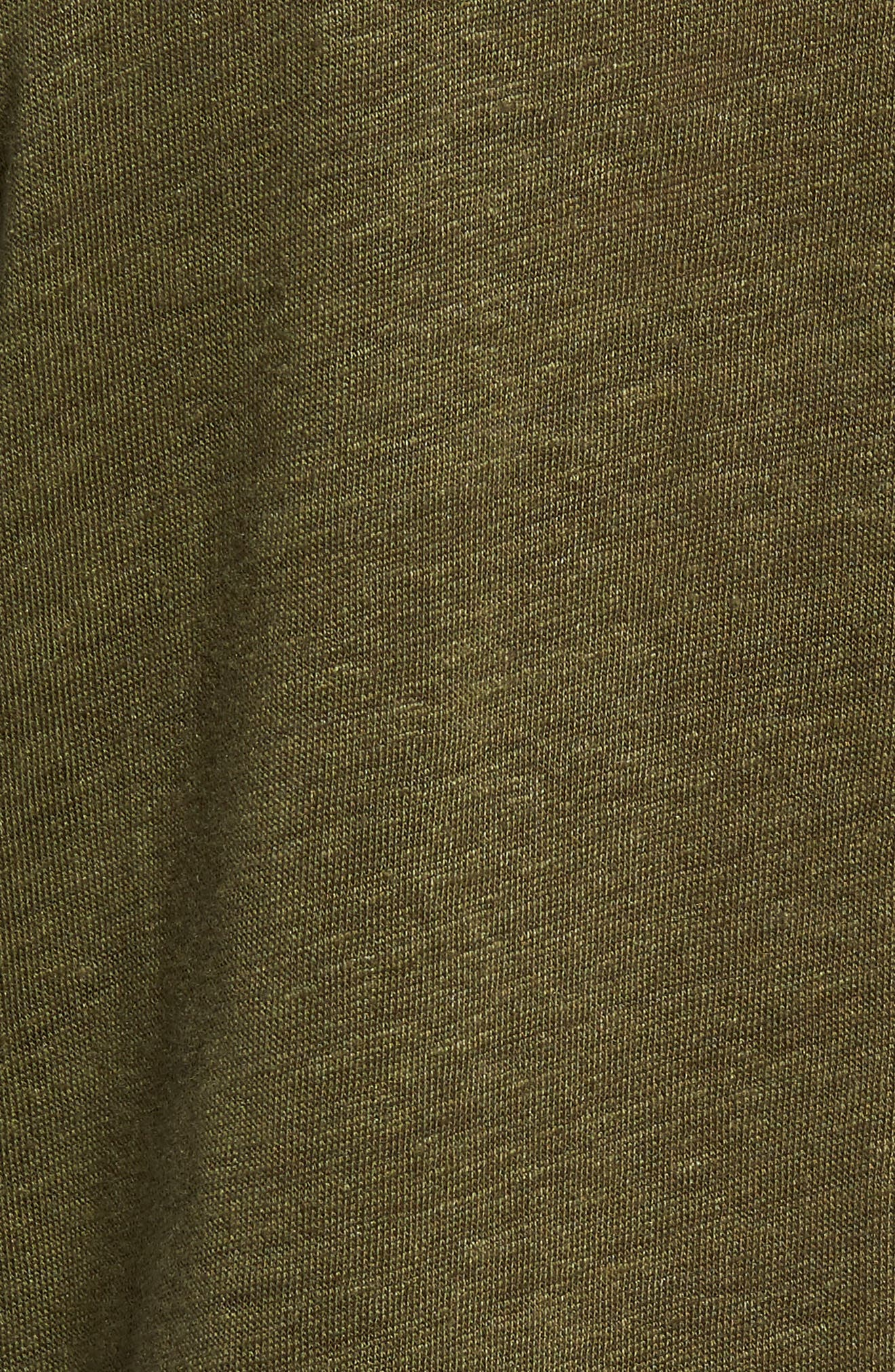 Owen Regular Fit Linen Polo,                             Alternate thumbnail 5, color,                             ARMY