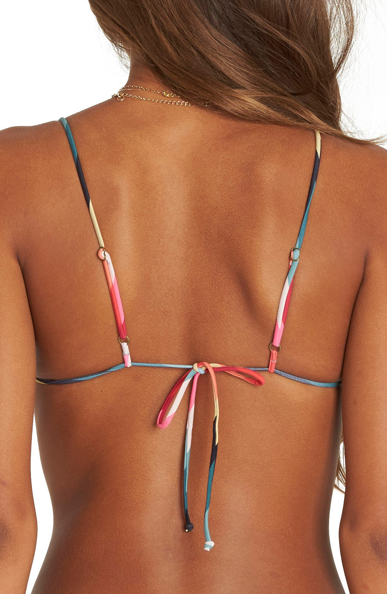 Color Spell Triangle Bikini Top,                             Alternate thumbnail 2, color,                             600